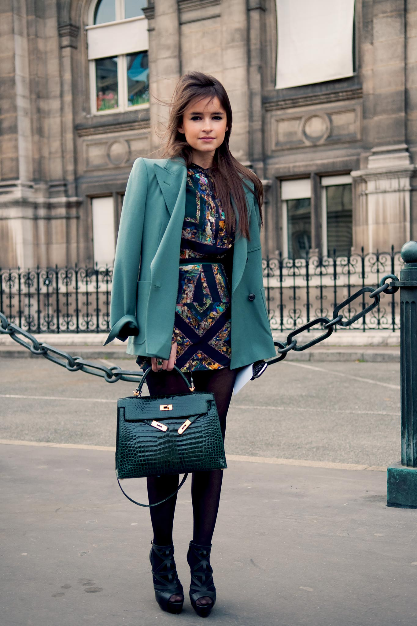 Miroslava Duma at Paris Fashion Week Fall/Winter 2010