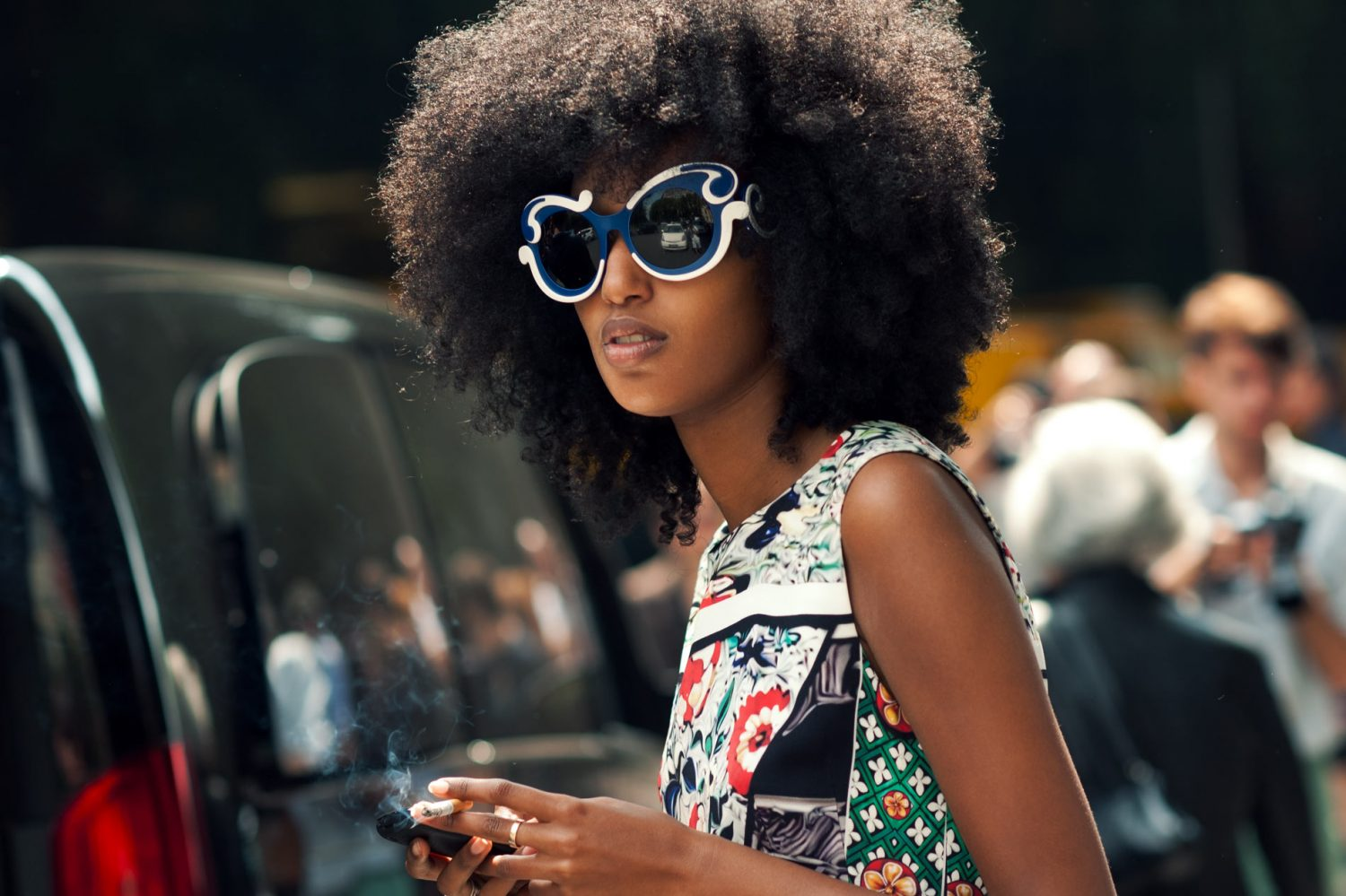 Julia Sarr-Jamois at Milan Fashion Week