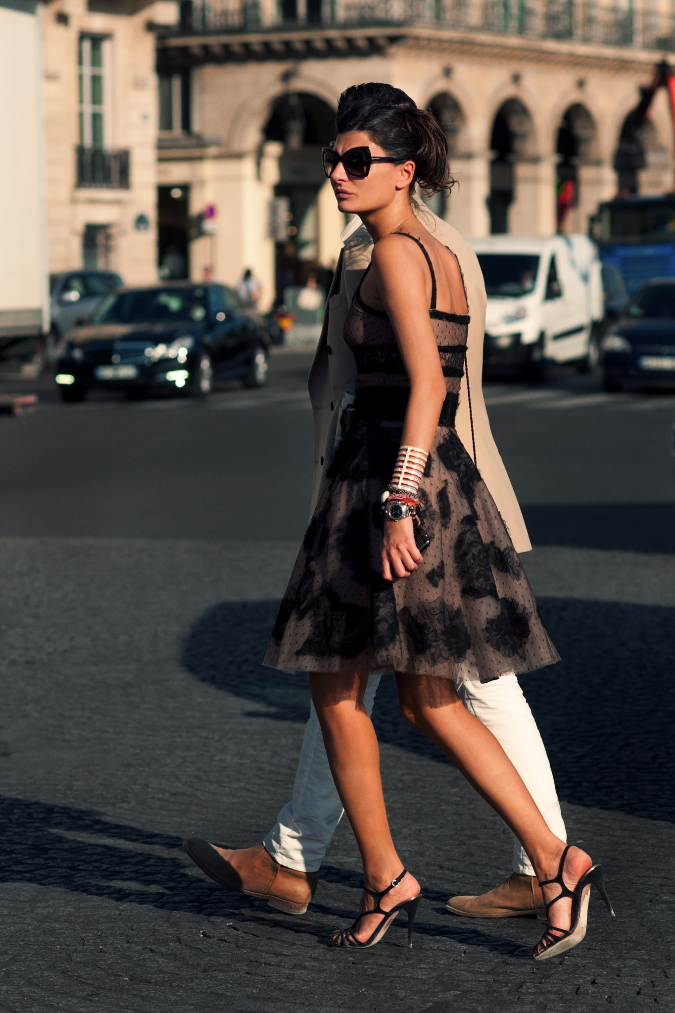 Giovanna Battaglia at Paris Fashion Week Spring/Summer 2012