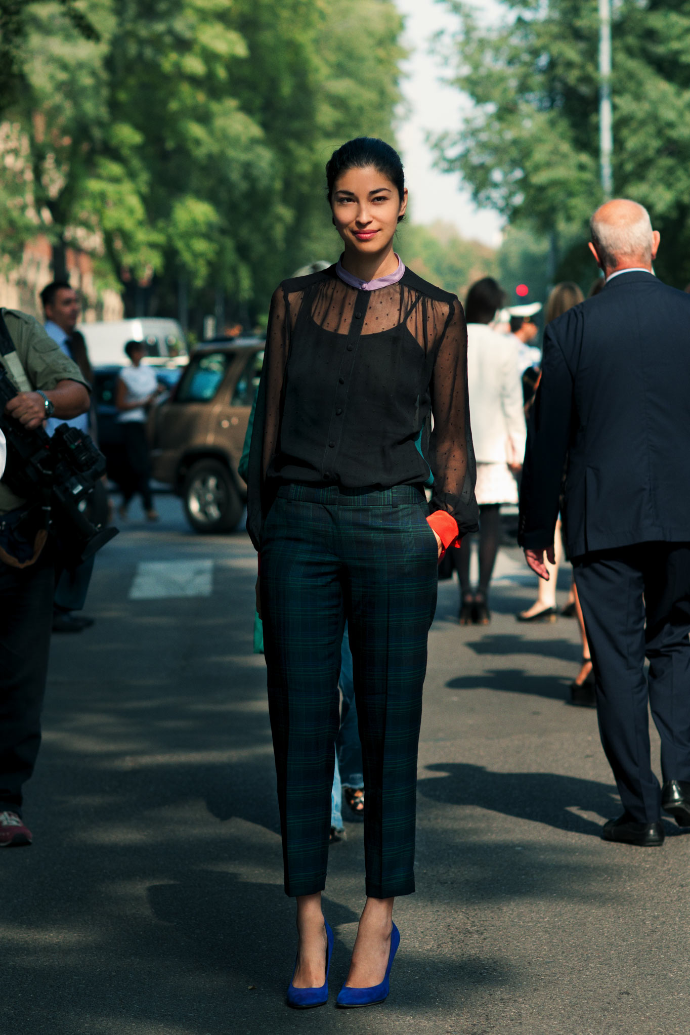 Caroline Issa at Milan Fashion Week Spring/Summer 2012