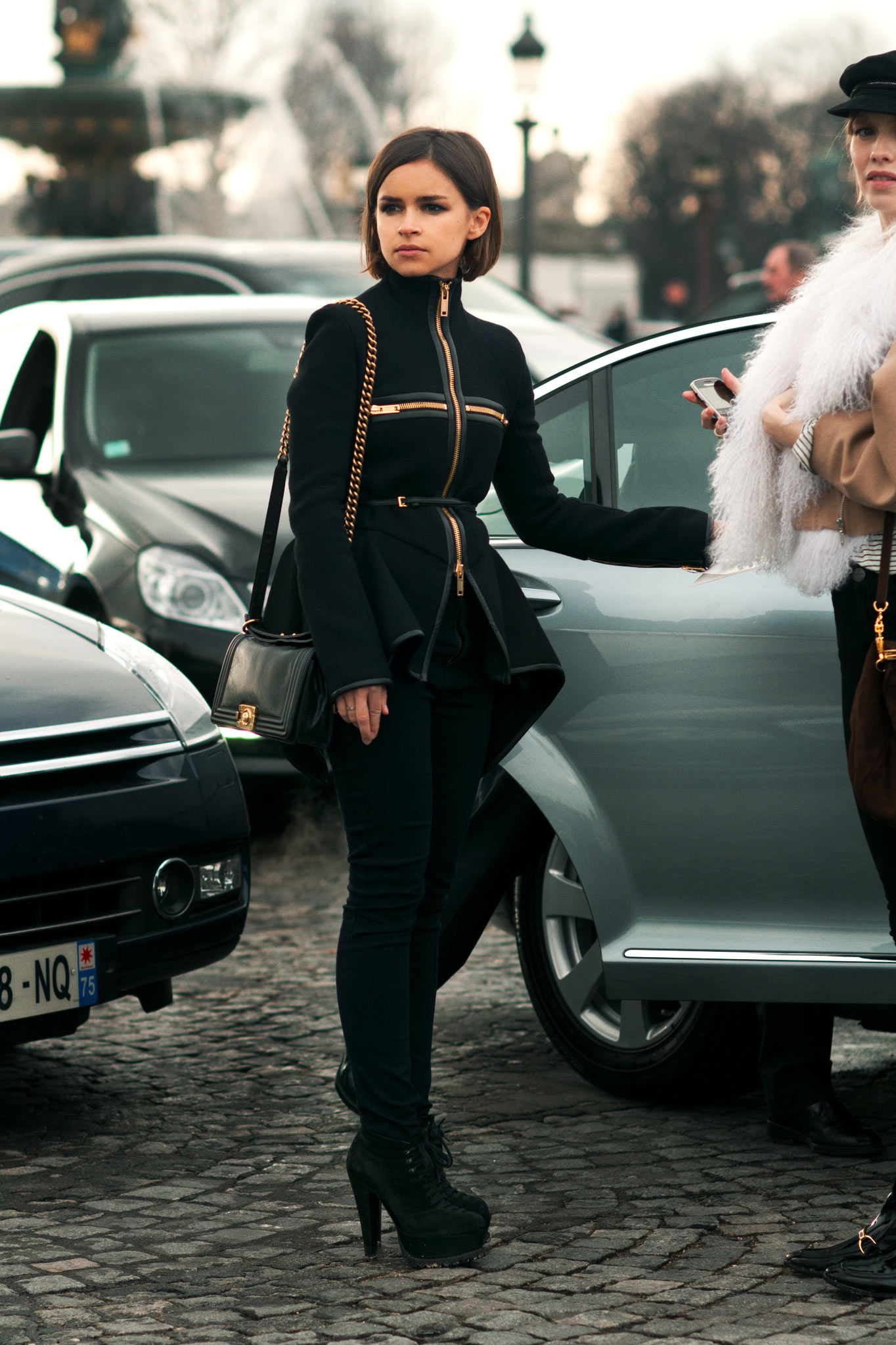 Miroslava Duma at Paris Fashion Week Fall/Winter 2012
