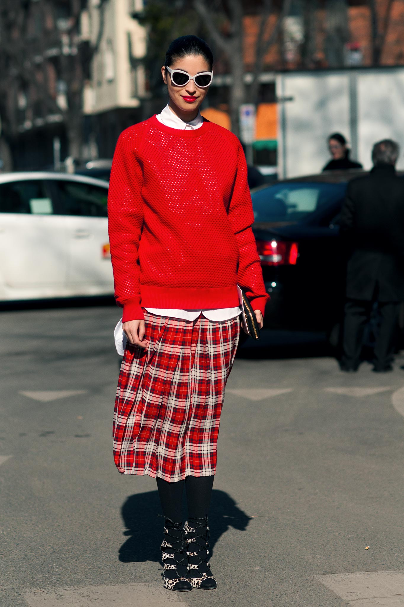 Caroline Issa at Milan Fashion Week Fall/Winter 2012