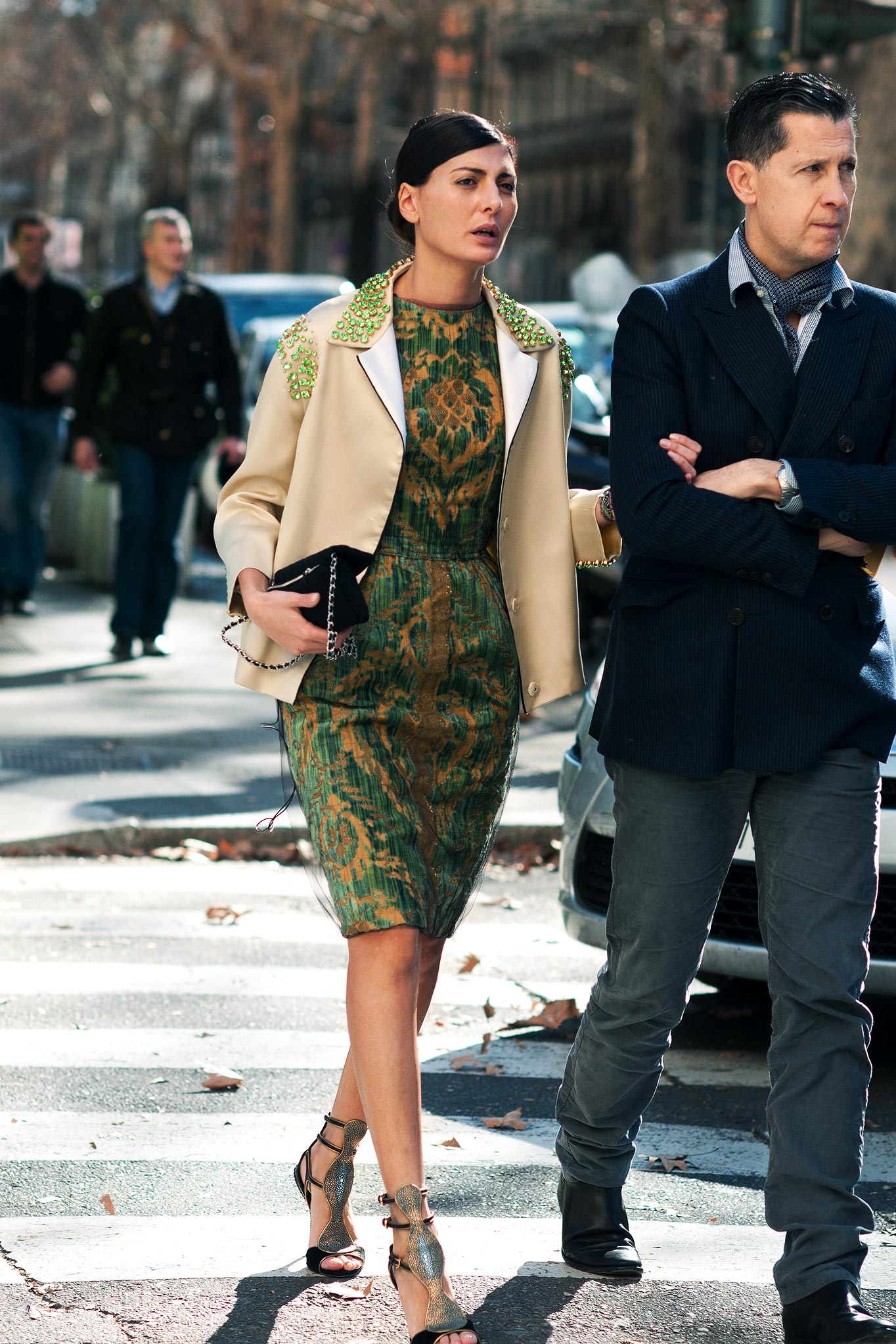 Giovanna Battaglia at Milan Fashion Week Fall/Winter 2012