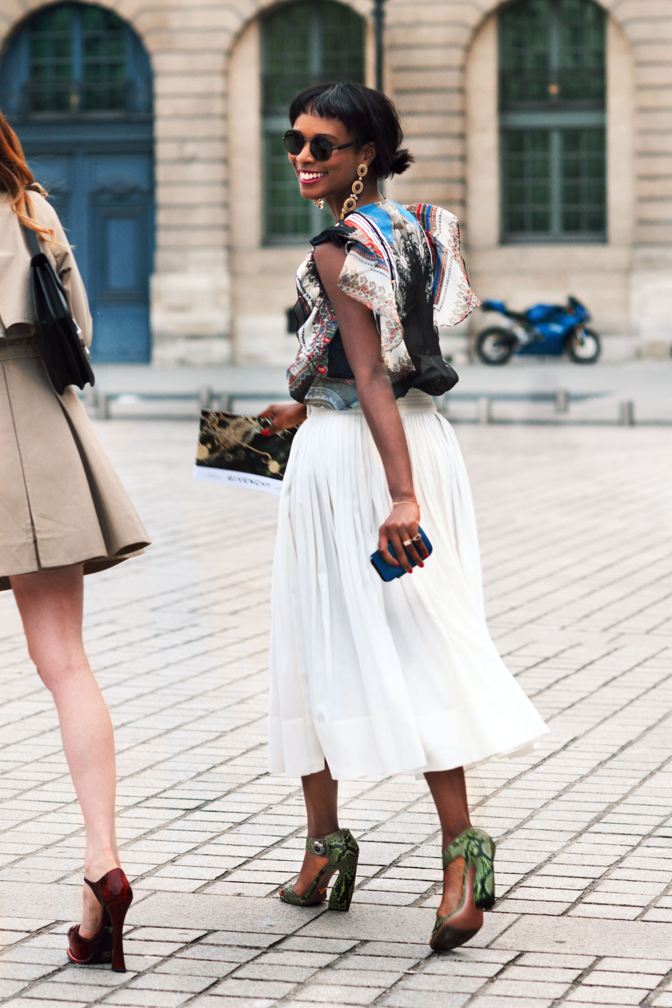 Shala Monroque at Paris Couture