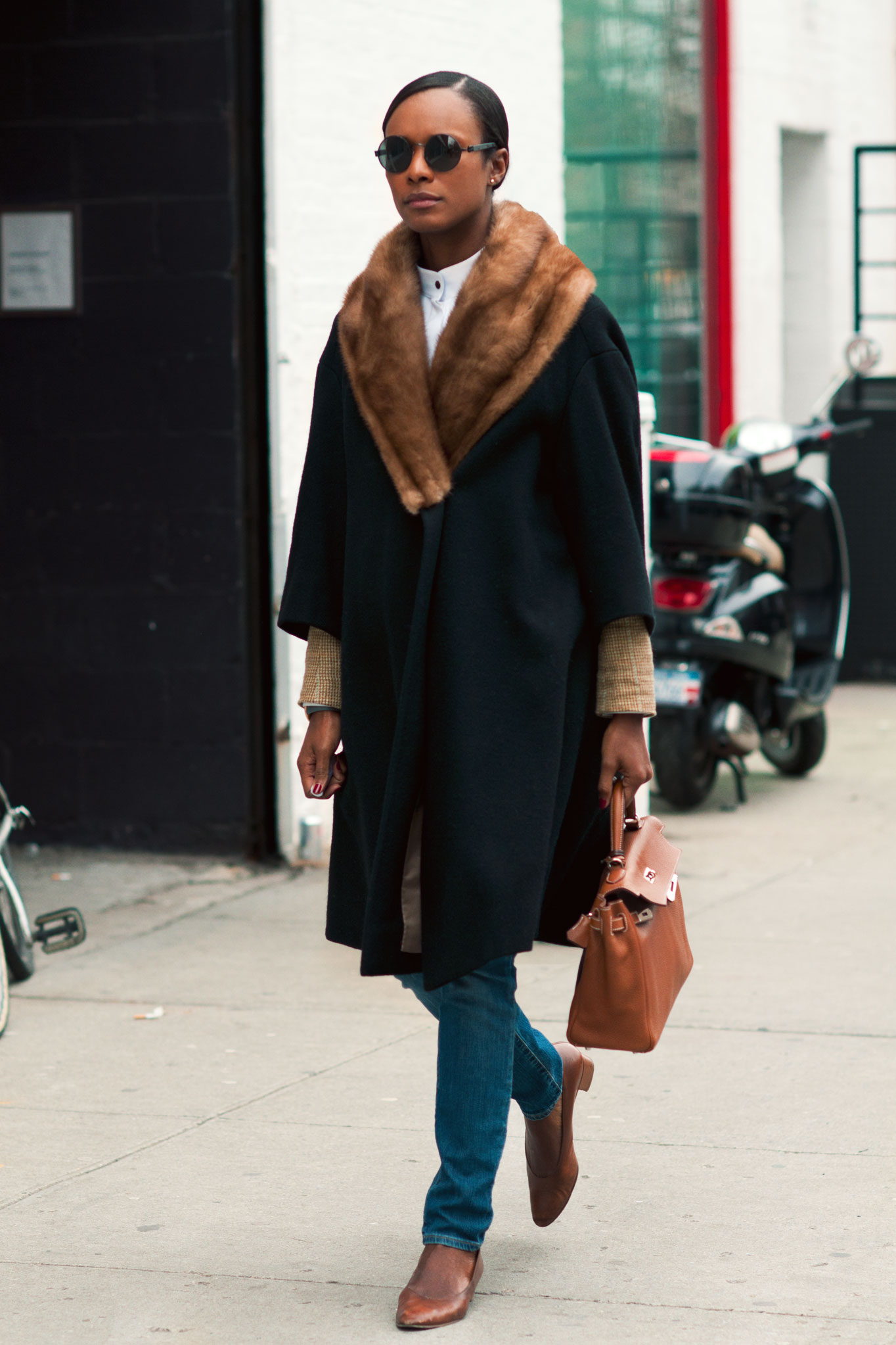 Shala Monroque at New York Fashion Week Fall/Winter 2012