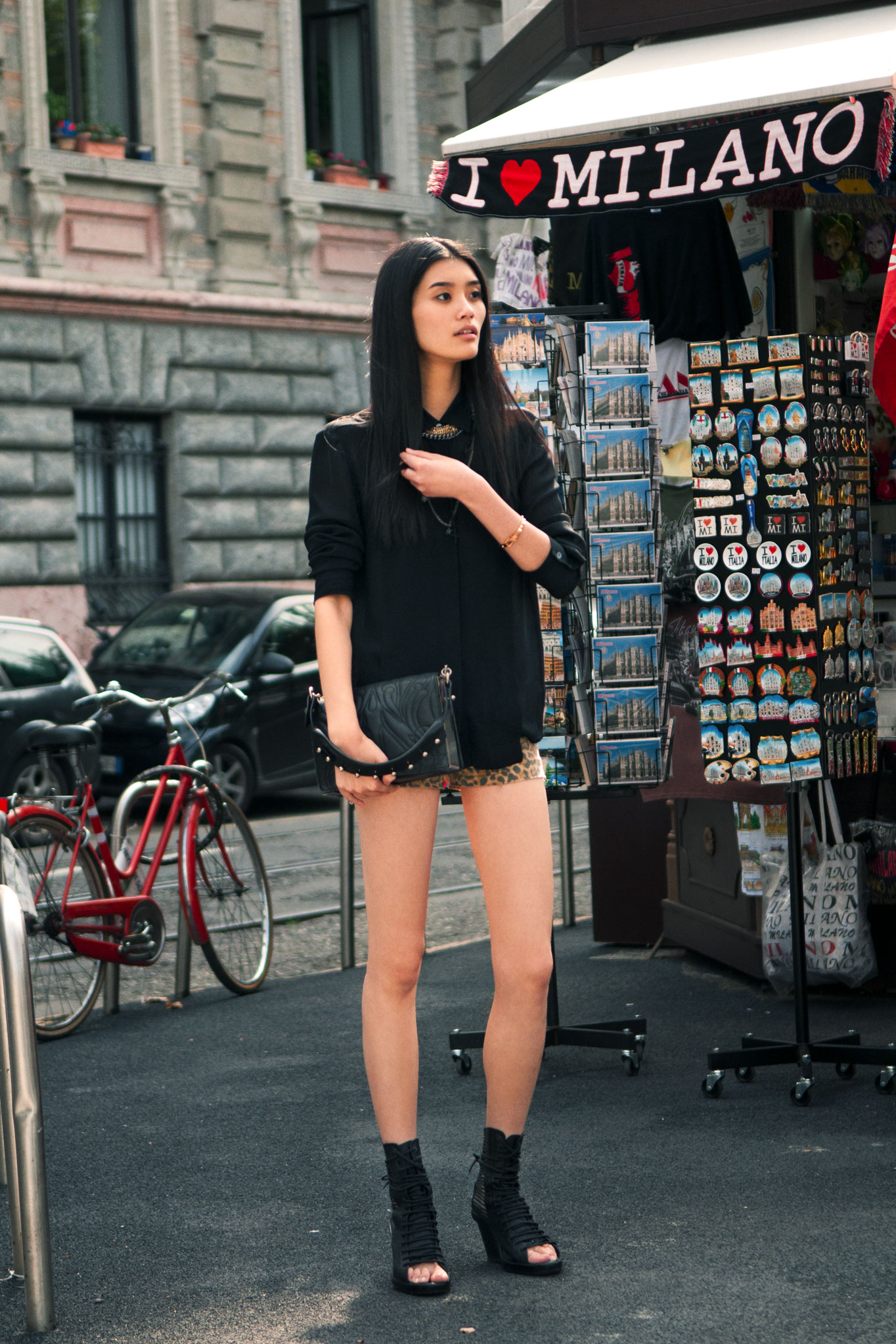 Ming Xi at Milan Fashion Week