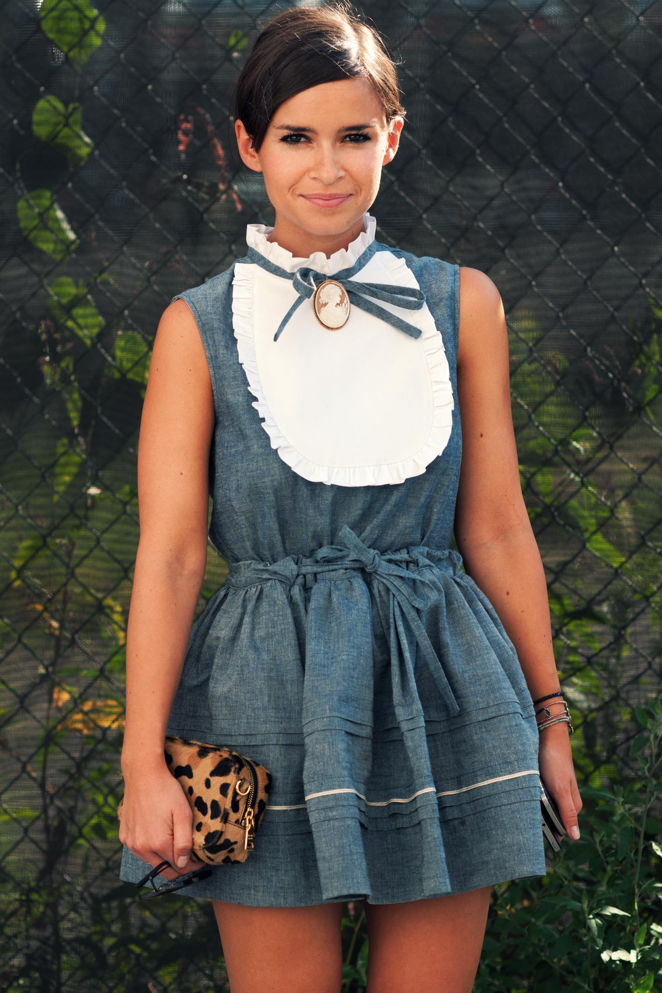 Miroslava Duma at New York Fashion Week Spring/Summer 2013