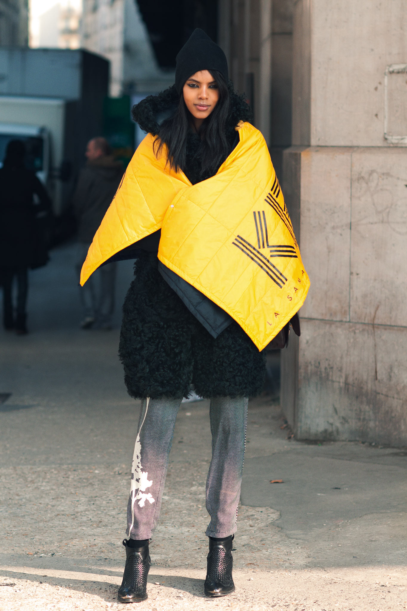 Grace Mahary at Paris Fashion Week Fall/Winter 2013