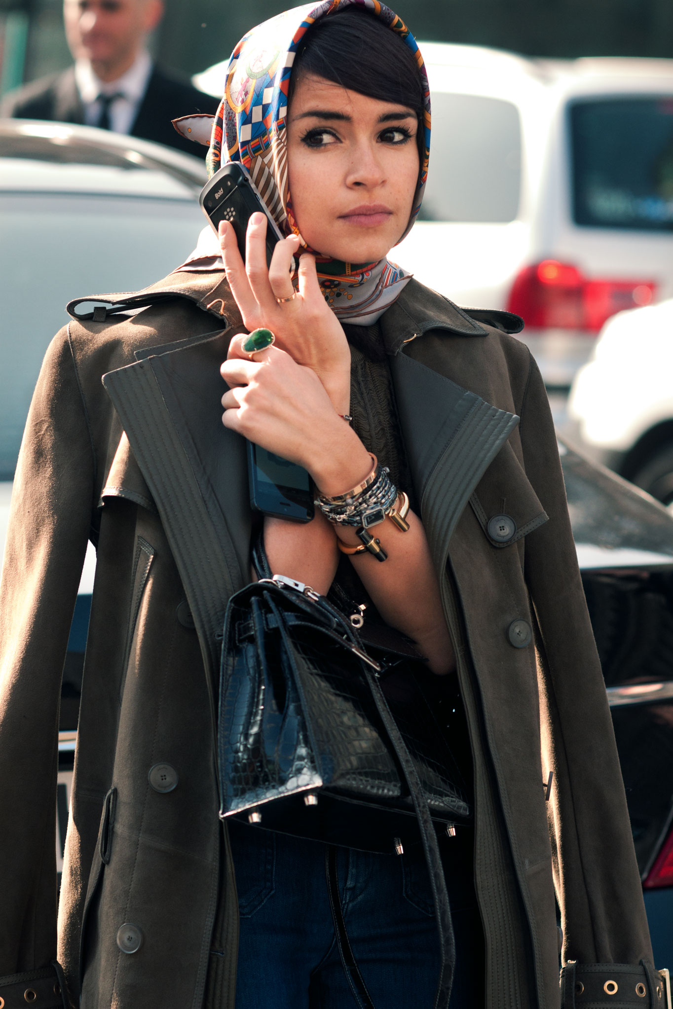 Miroslava Duma at Paris Fashion Week Fall/Winter 2013