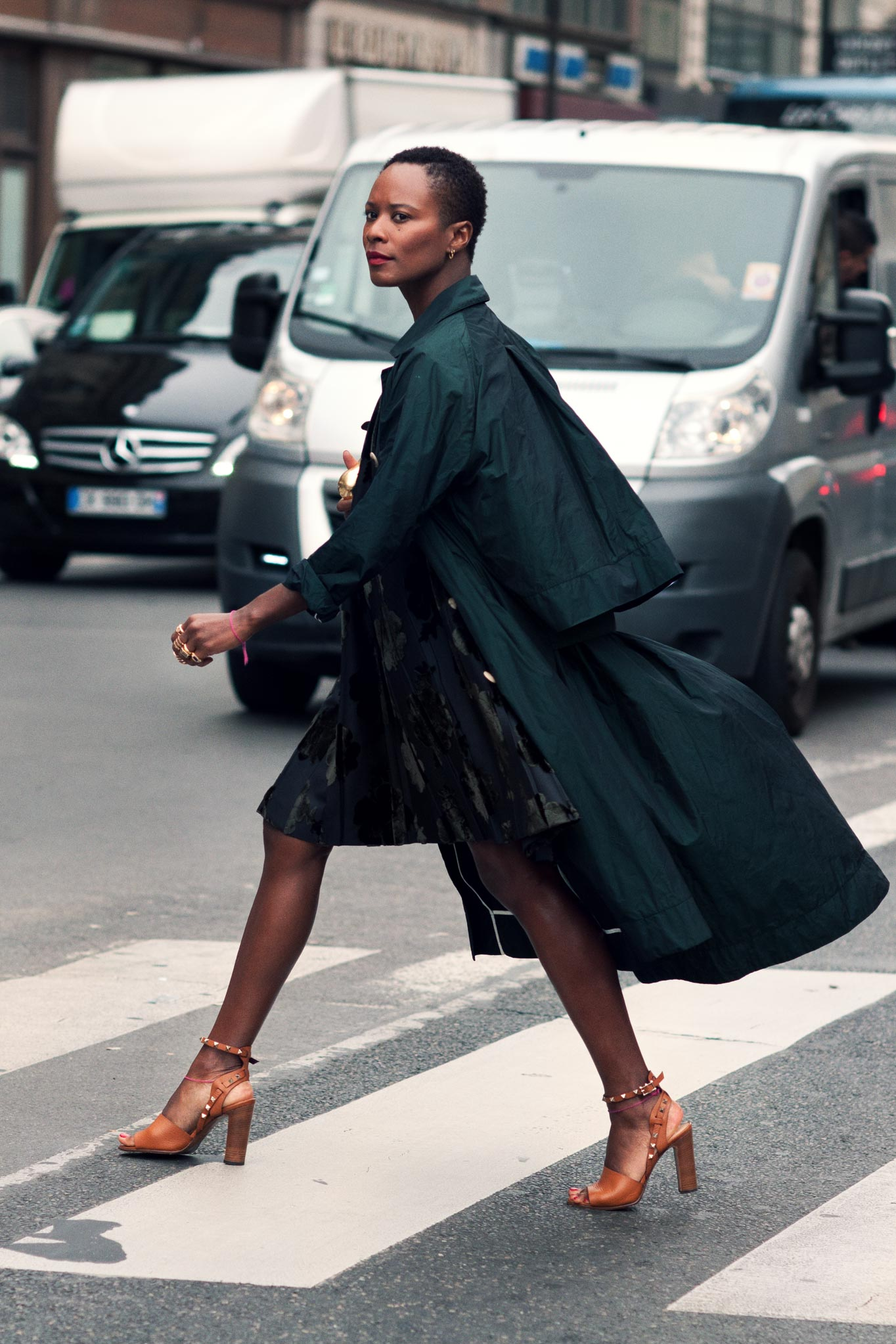 Shala Monroque at Paris Fashion Week Spring/Summer 2014