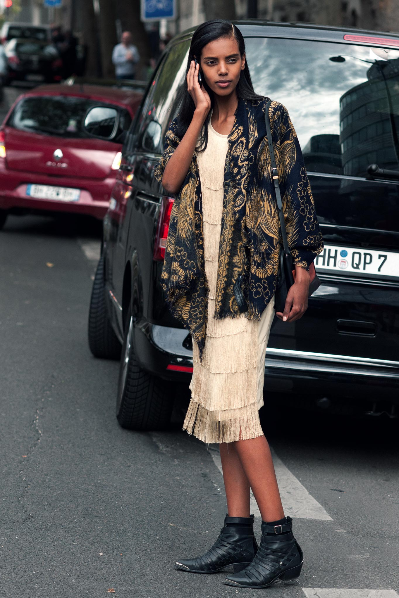 Grace Mahary at Paris Fashion Week Spring/Summer 2014