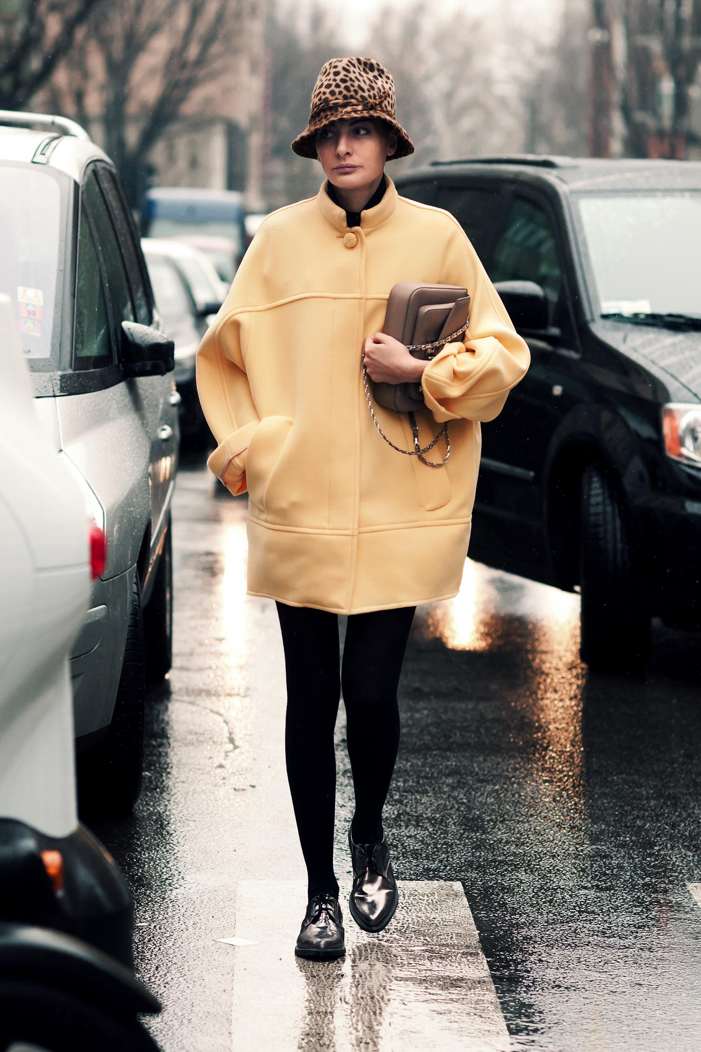 Giovanna Battaglia at Milan Fashion Week Fall/Winter 2013