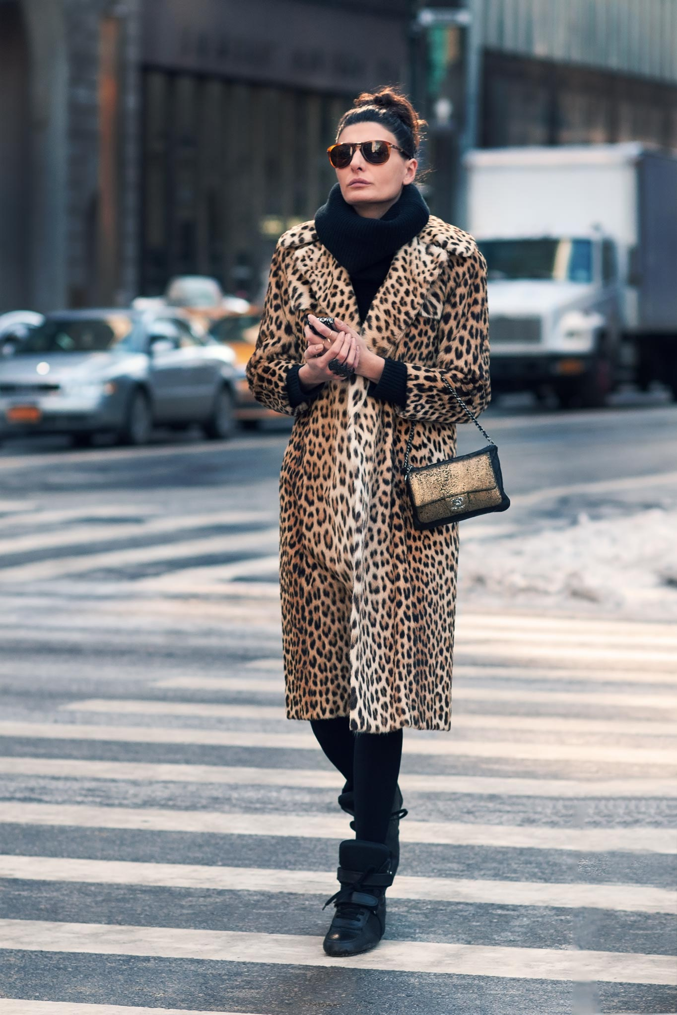 Giovanna Battaglia at New York Fashion Week Fall/Winter 2013