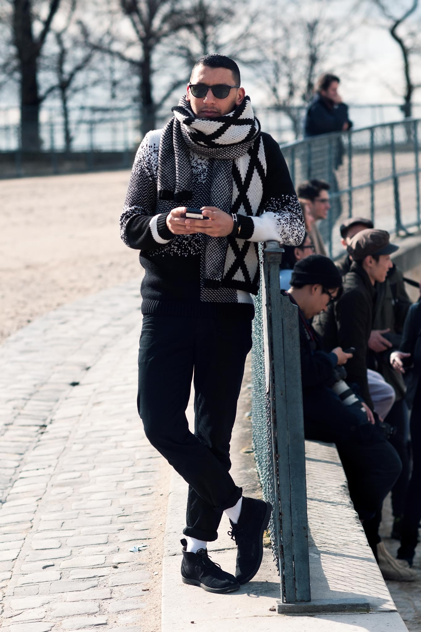 Mo Anwar at Paris Fashion Week Fall/Winter 2014