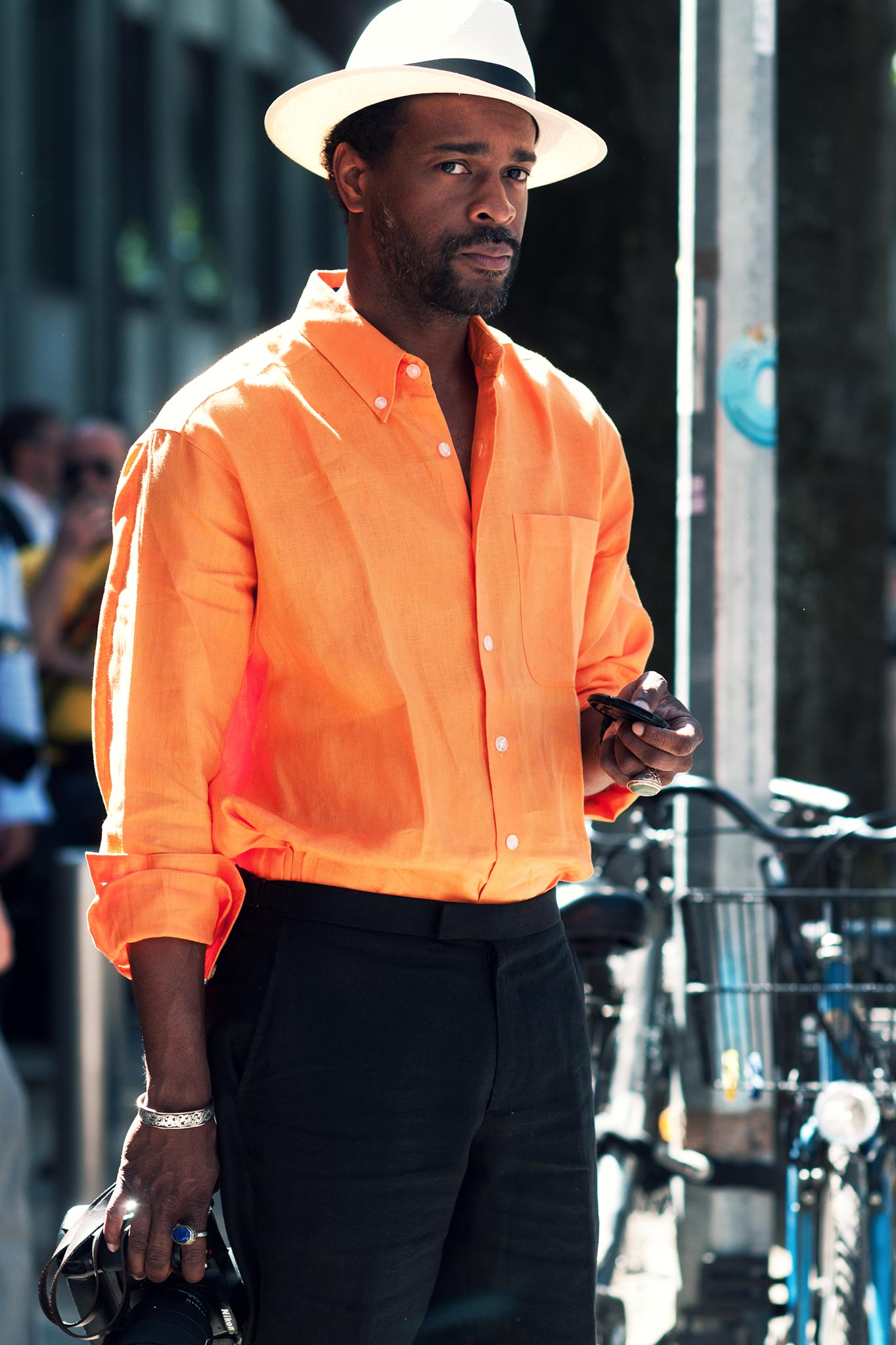 Karl-Edwin Guerre at Milan Men's Fashion Week Spring/Summer 2014