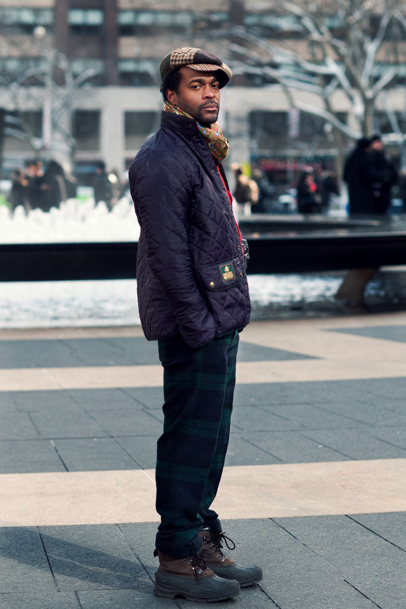 Karl-Edwin Guerre at New York Fashion Week Fall/Winter 2014