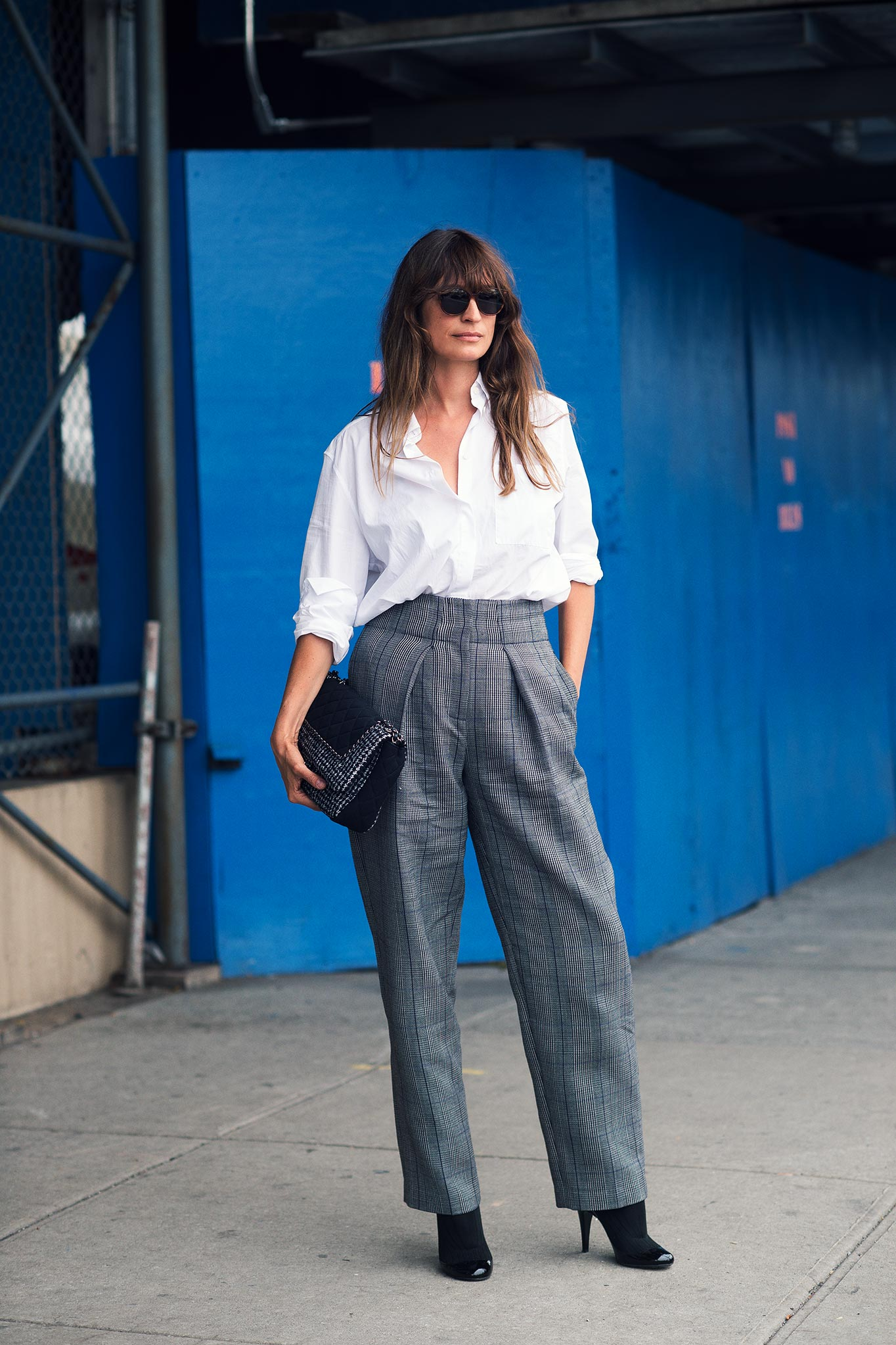 Caroline de Maigret at New York Fashion Week Spring/Summer 2015