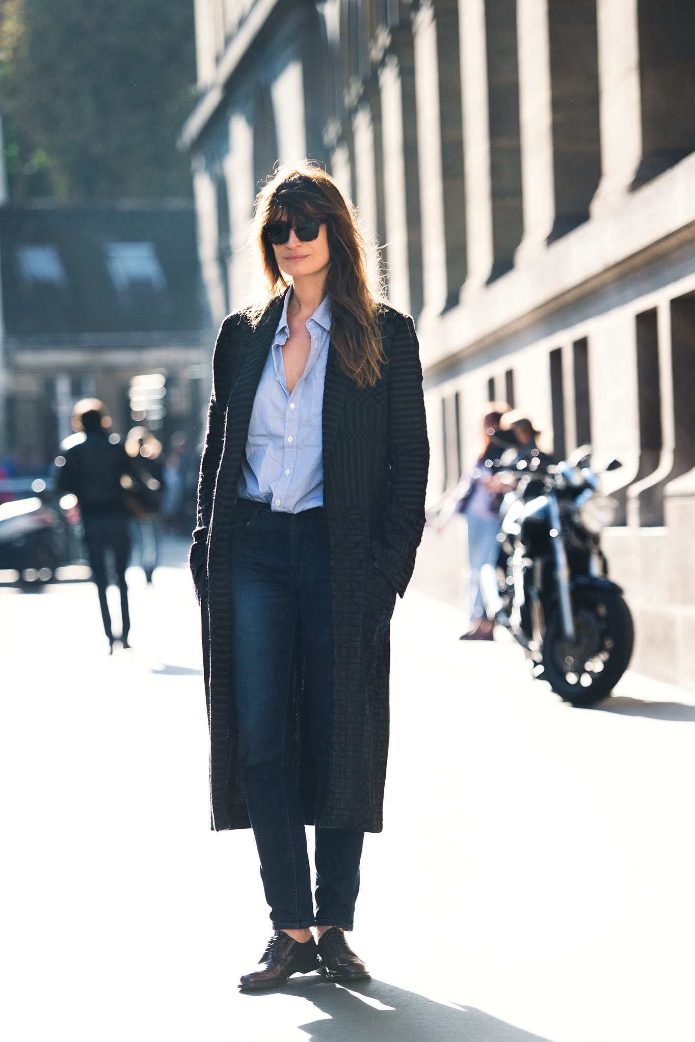 Caroline de Maigret at Paris Fashion Week Spring/Summer 2015