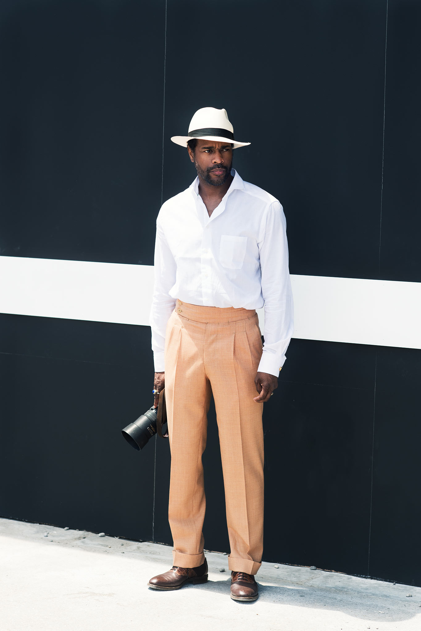Karl-Edwin Guerre at Pitti Uomo 86