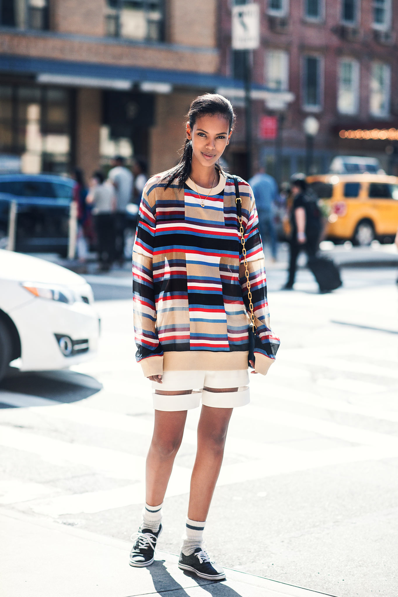 Grace Mahary at New York Fashion Week Spring/Summer 2015