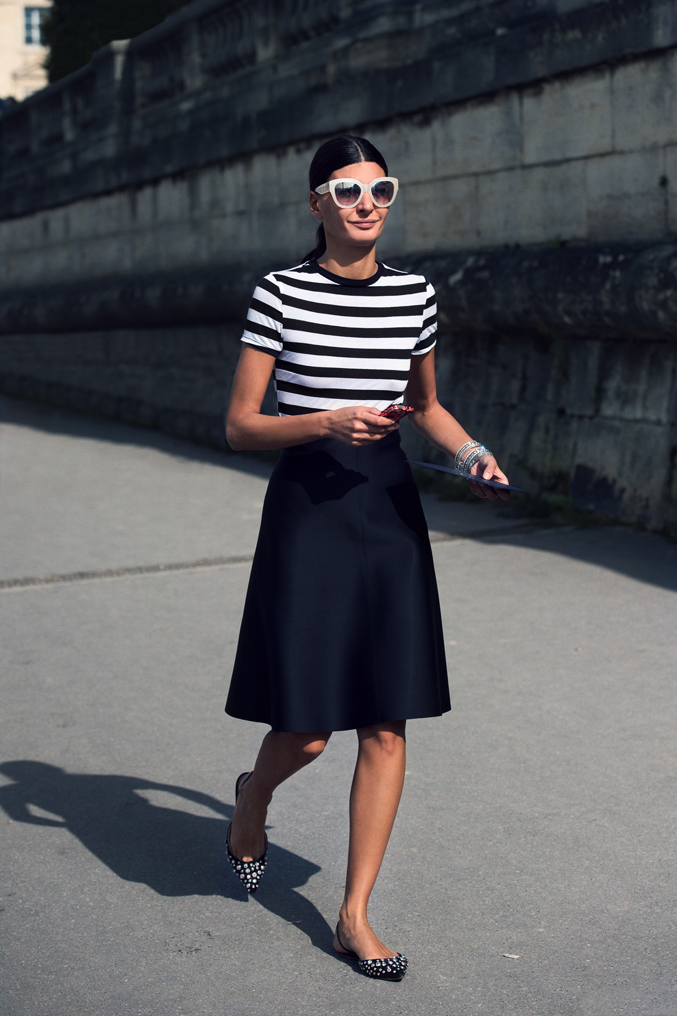 Giovanna Battaglia at Paris Fashion Week Spring/Summer 2015