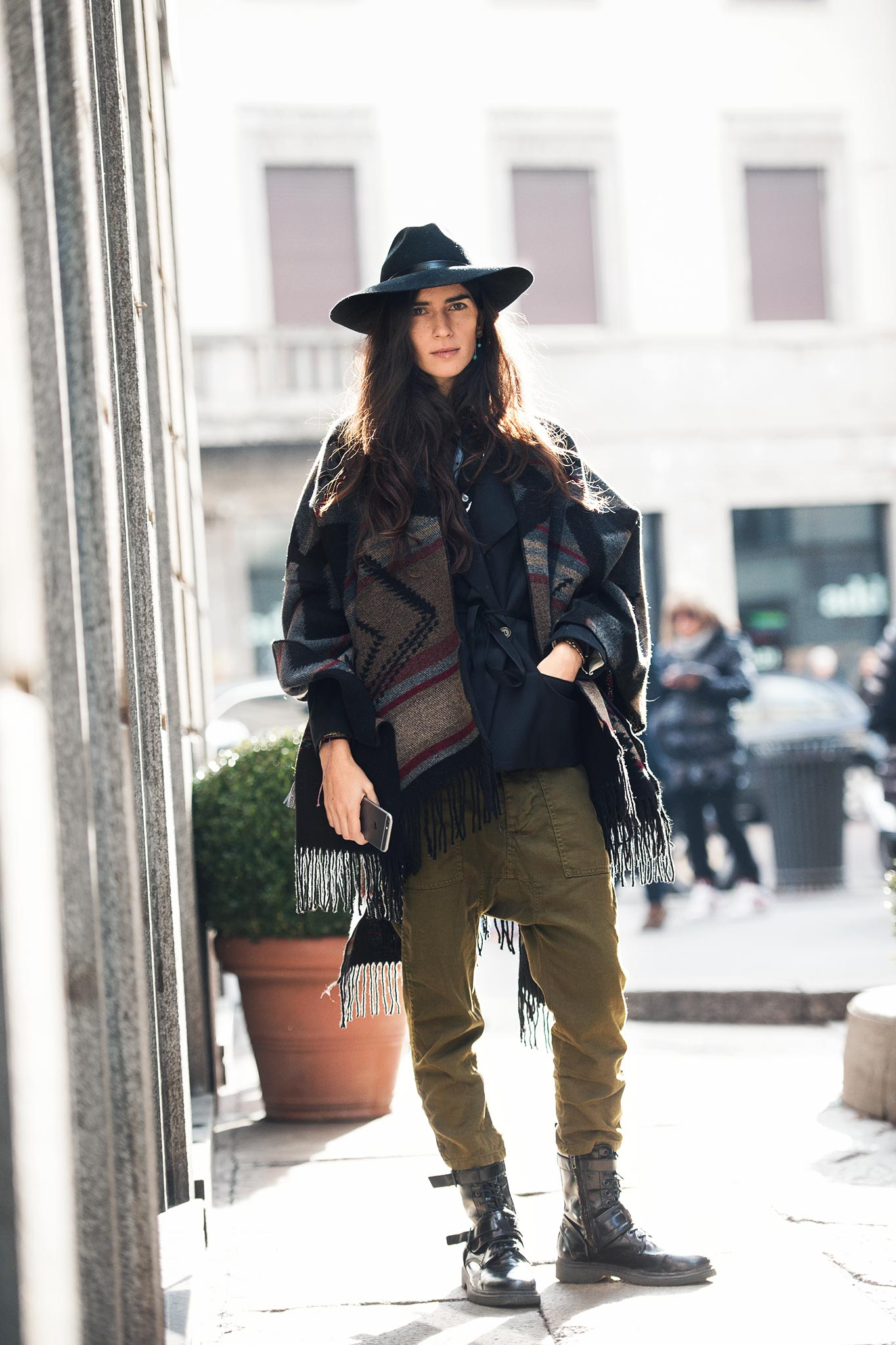 Chiara Totire at Milan Men's Fashion Week Fall/Winter 2015