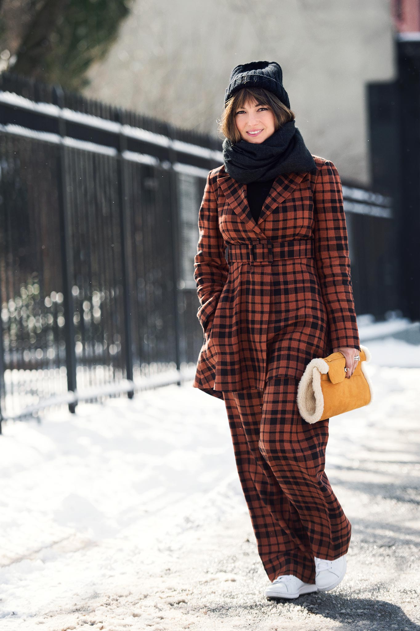 Nasiba Adilova at New York Fashion Week Fall/Winter 2015