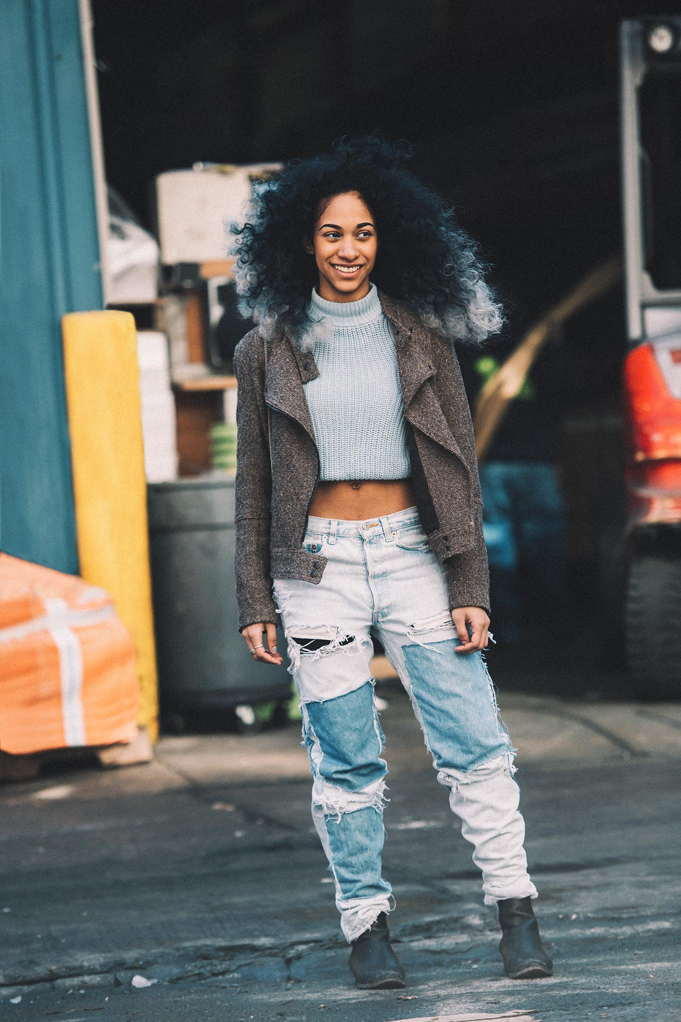 Rhea Carter at New York Fashion Week Fall/Winter