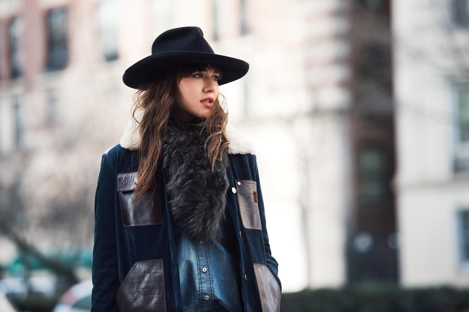 Natalie Suarez at New York Fashion Week Fall/Winter 2015