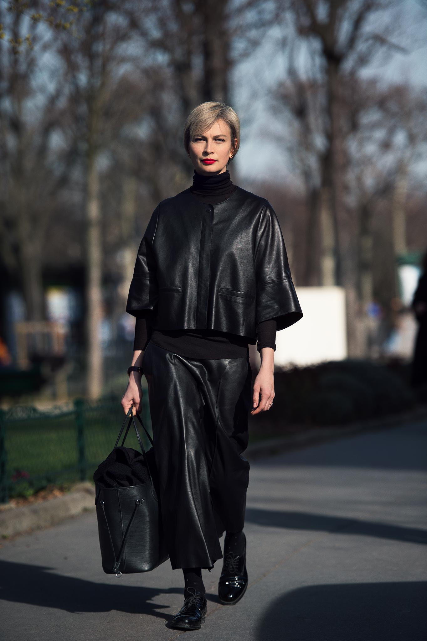 Masha Tsukanova at Paris Fashion Week Fall/Winter 2015