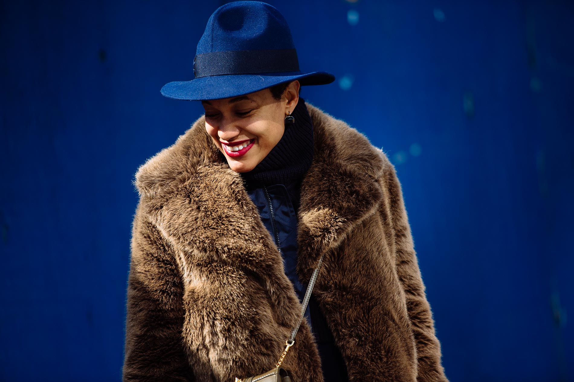 Tamu McPherson at New York Fashion Week Fall/Winter 2015