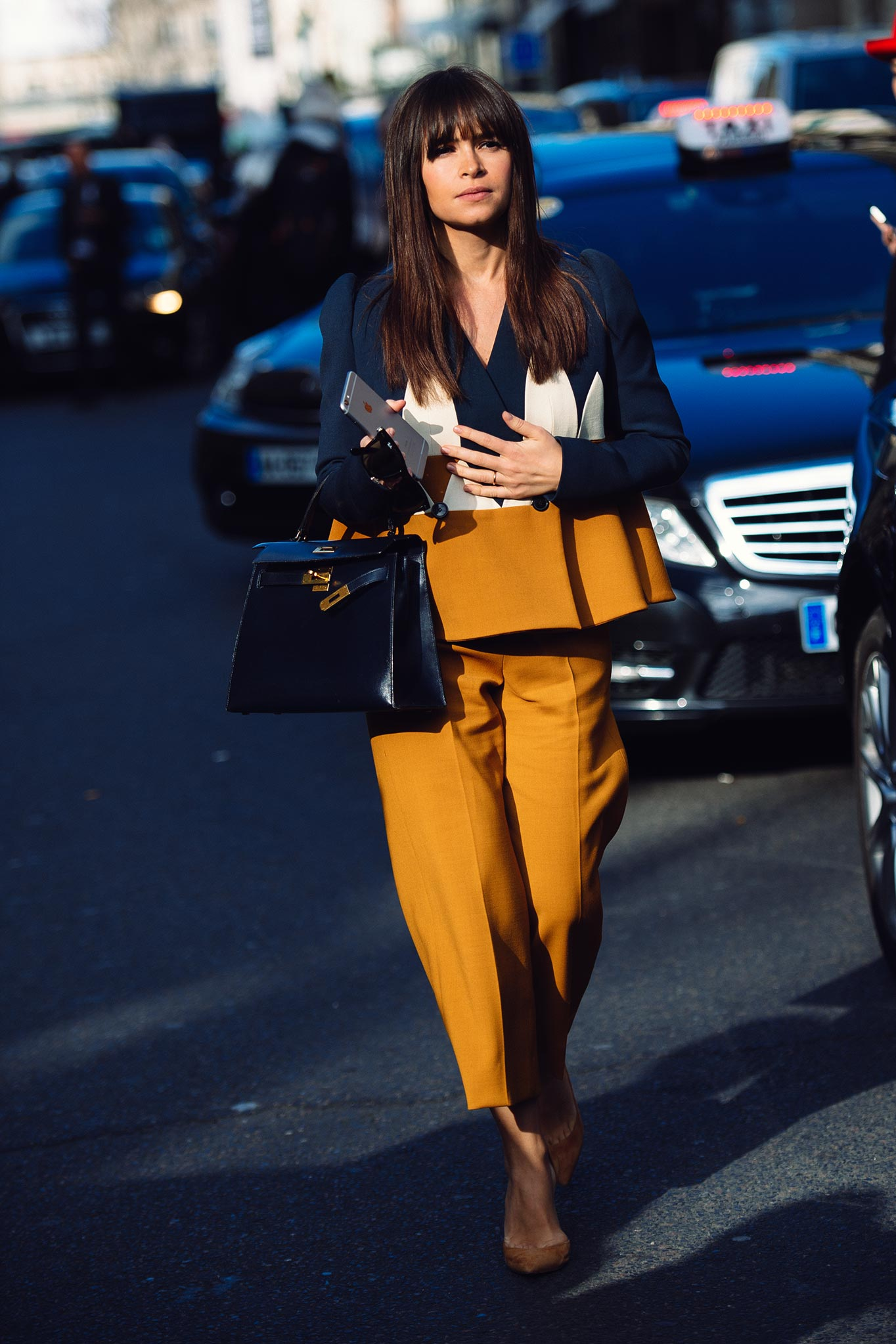 Miroslava Duma at Paris Fashion Week Fall/Winter 2015