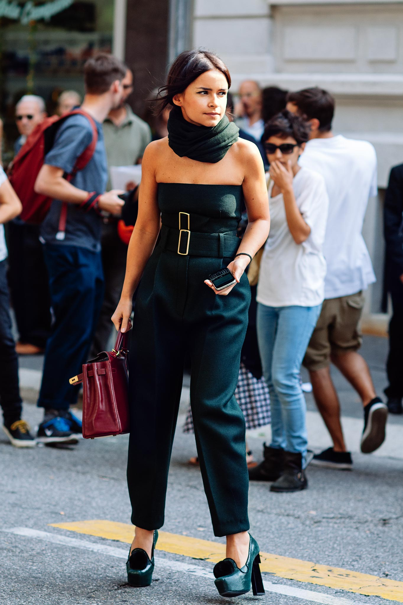 Miroslava Duma at Paris Fashion Week Spring/Summer 2014