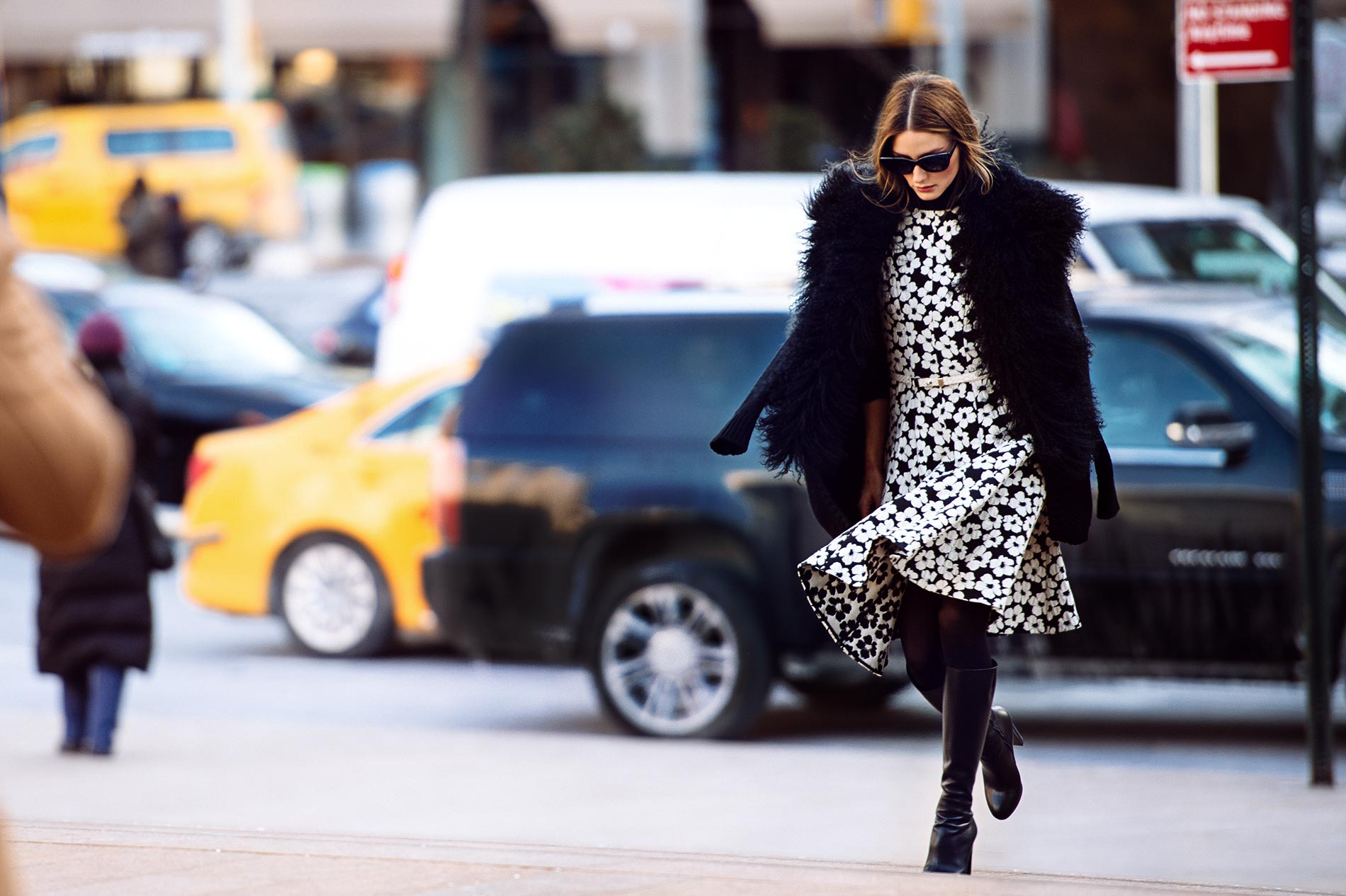 Olivia Palermo at New York Fashion Week Fall/Winter 2015