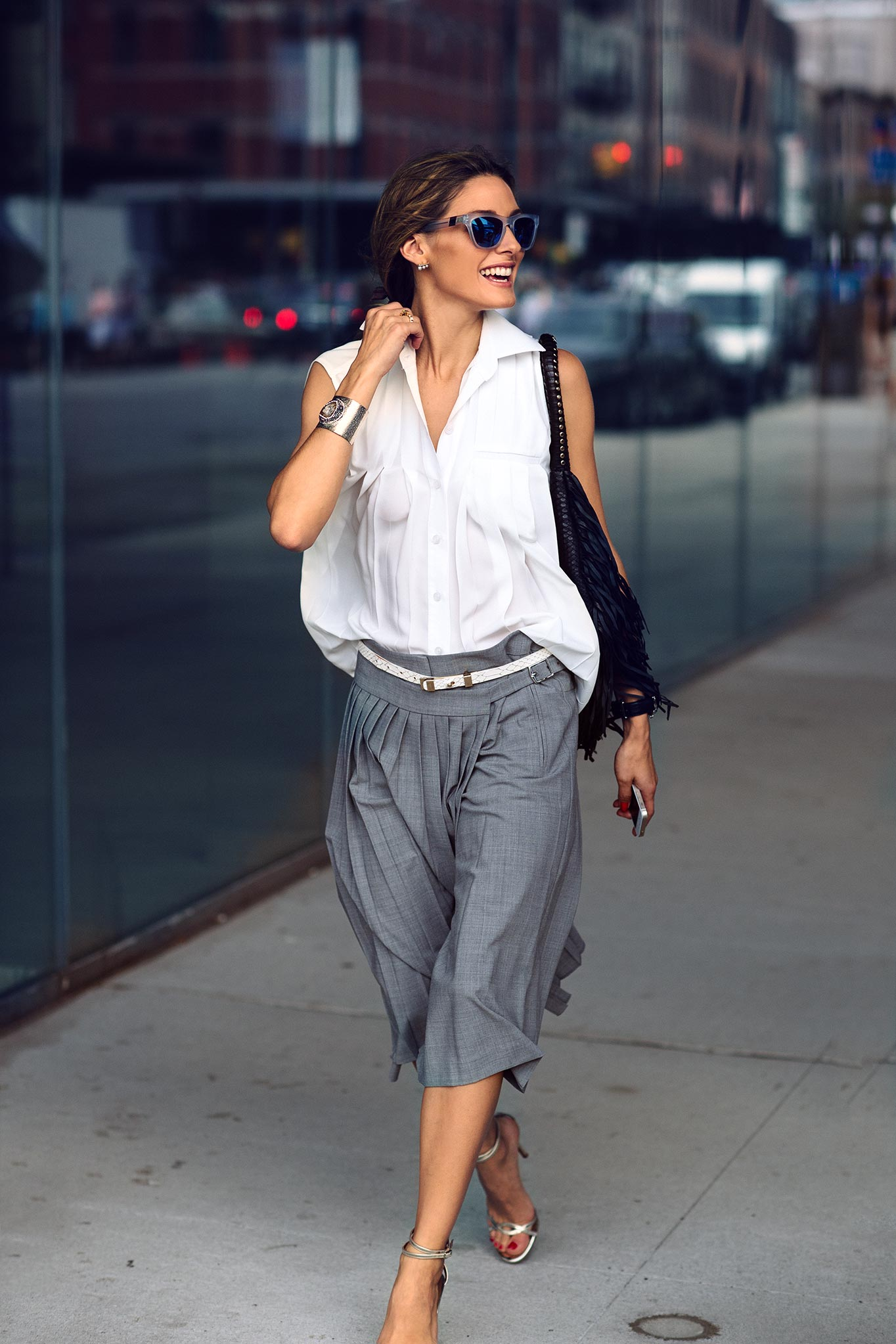 Olivia Palermo at New York Fashion Week Spring/Summer 2015