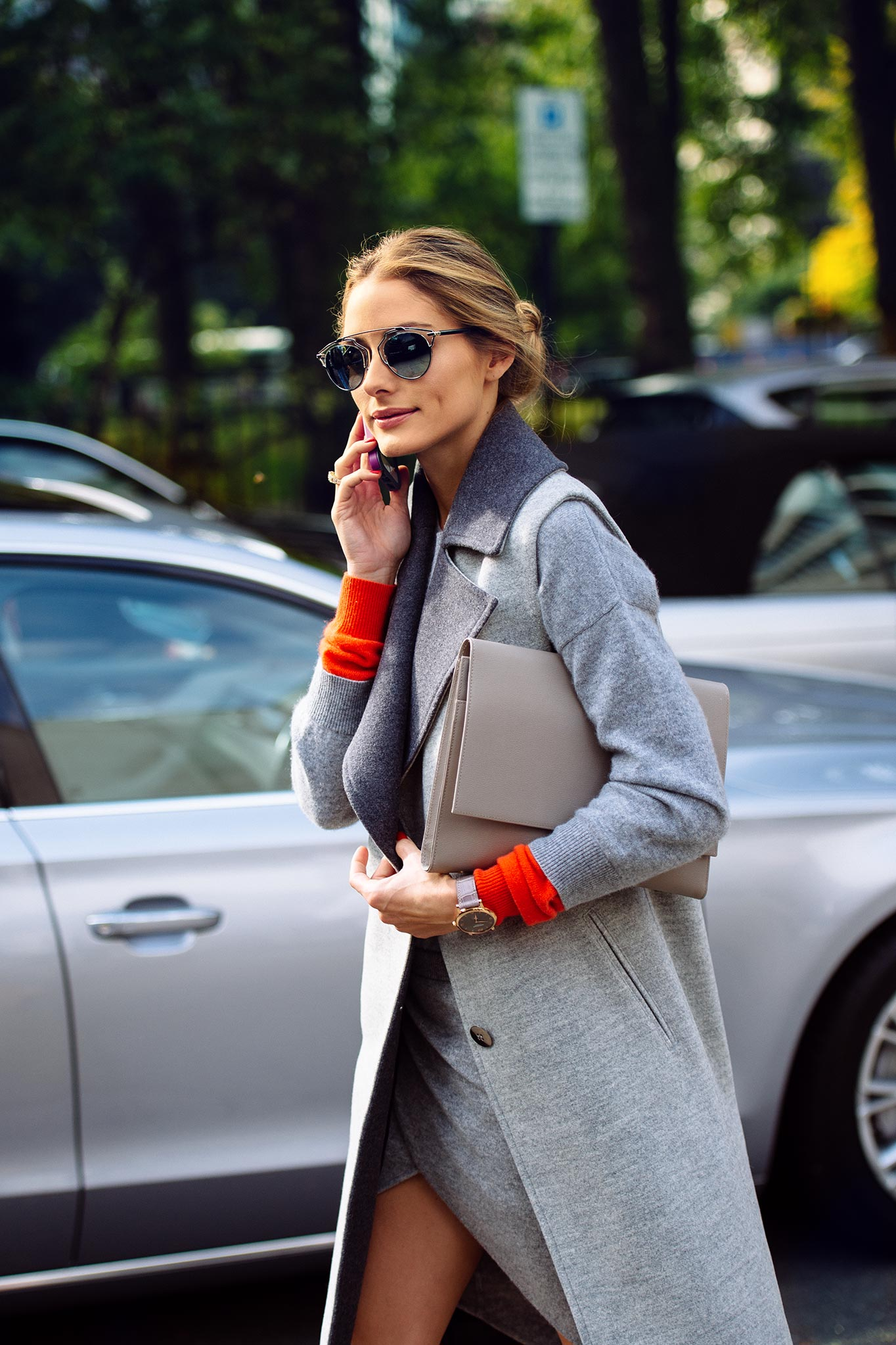 Olivia Palermo at London Fashion Week Spring/Summer 2015