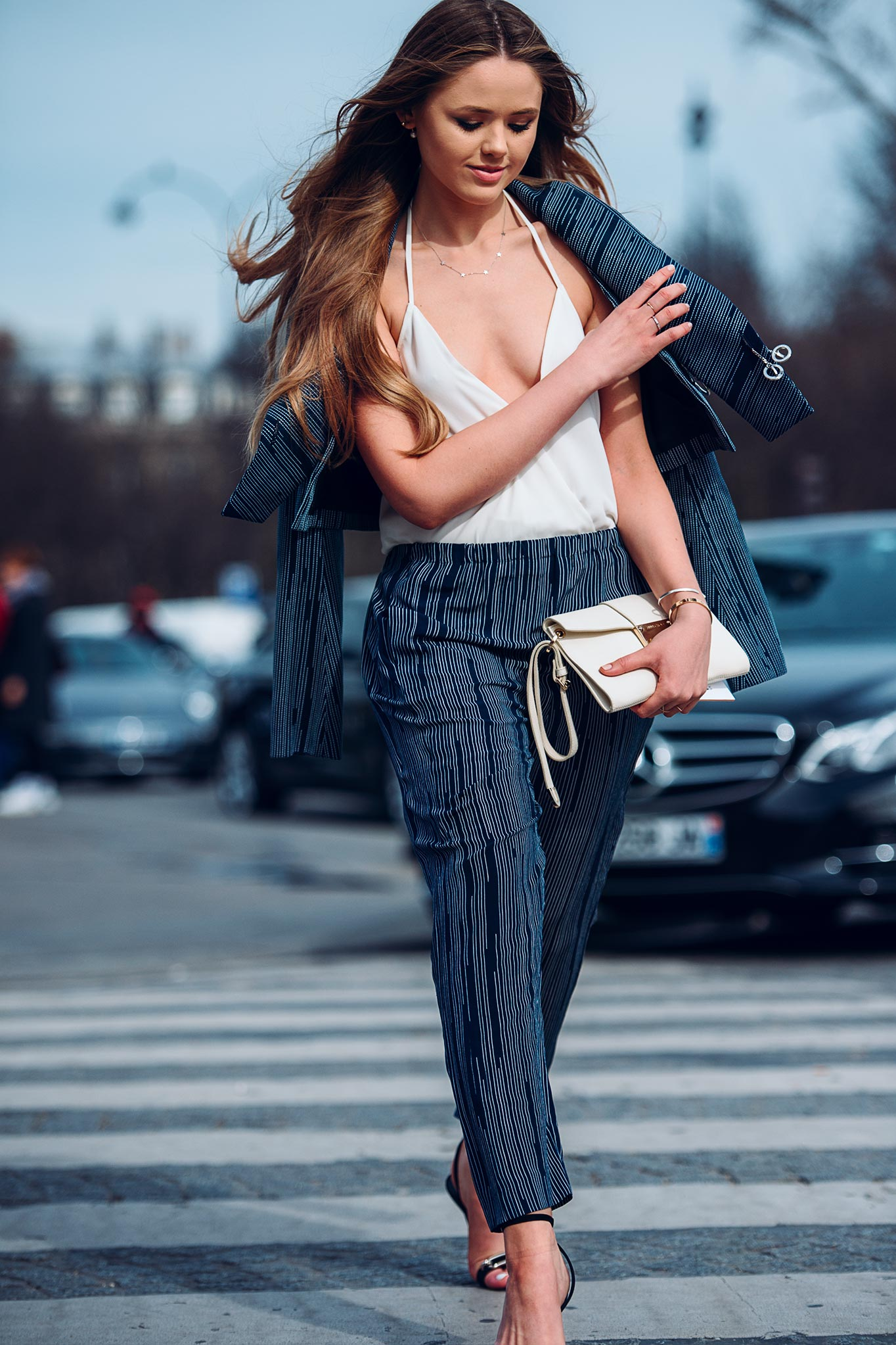 Kristina Bazan at Paris Fashion Week Fall/Winter 2015