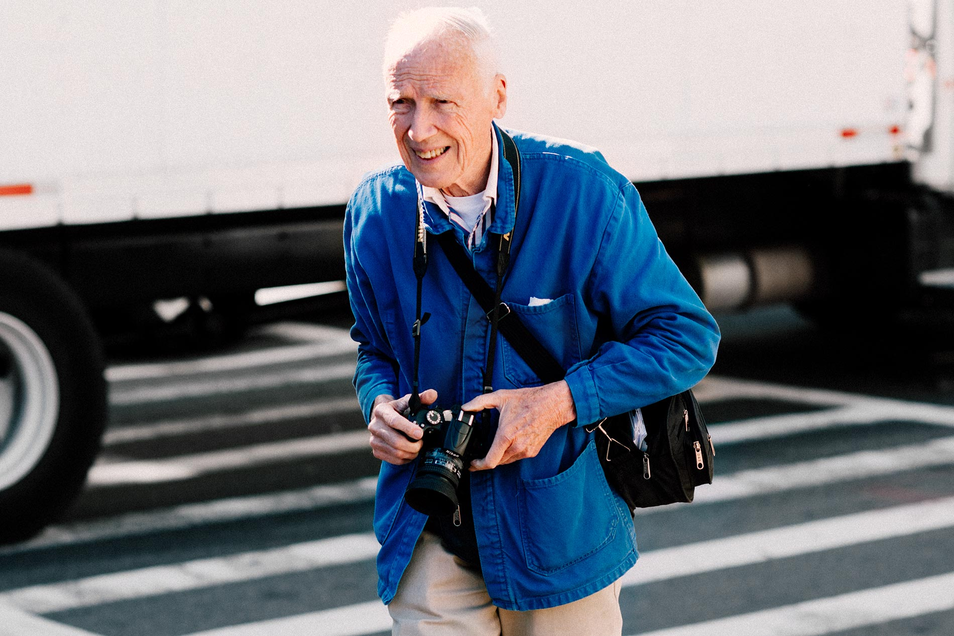 Bill Cunningham at New York Fashion Week Spring/Summer