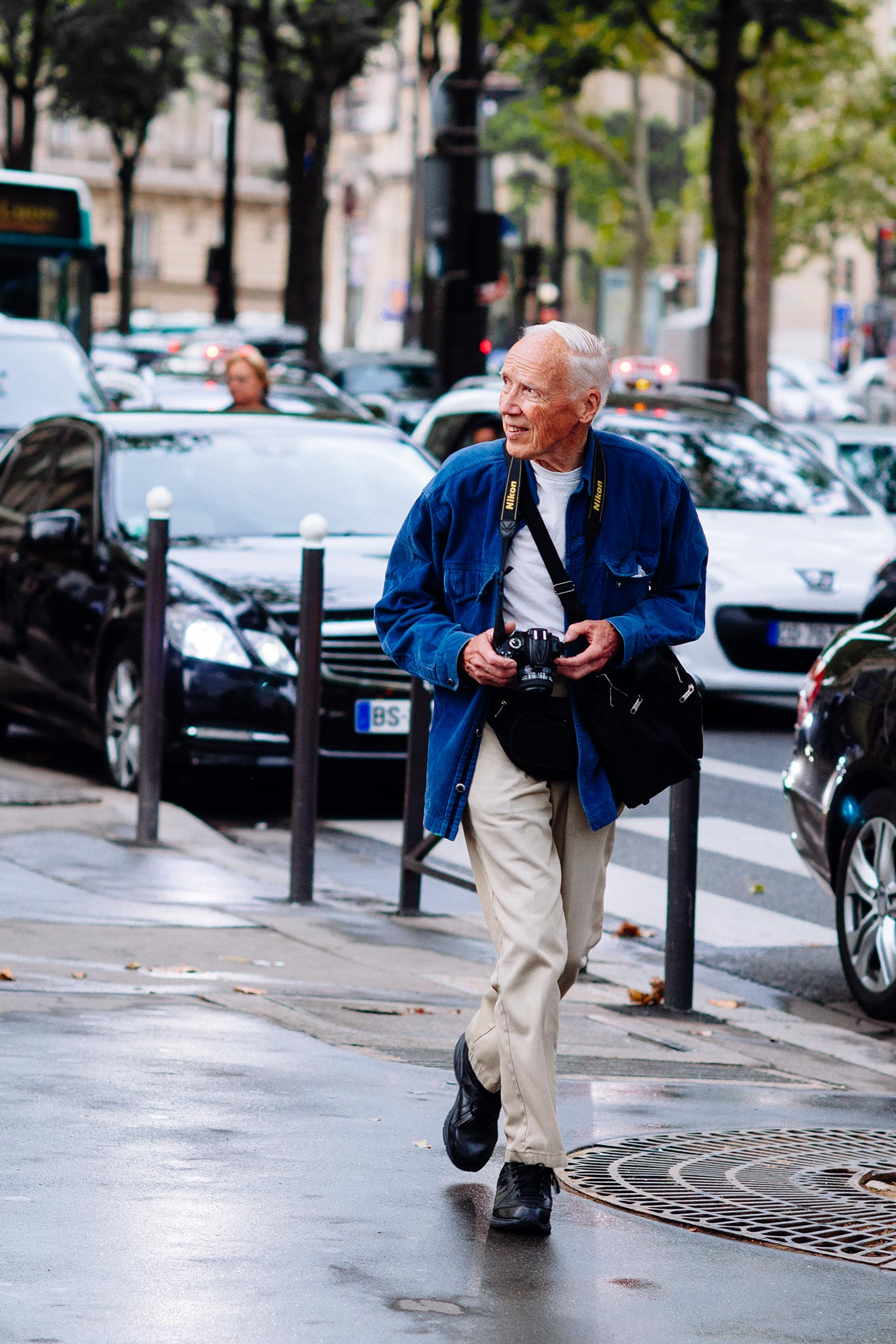 Bill Cunningham at Paris Fashion Week