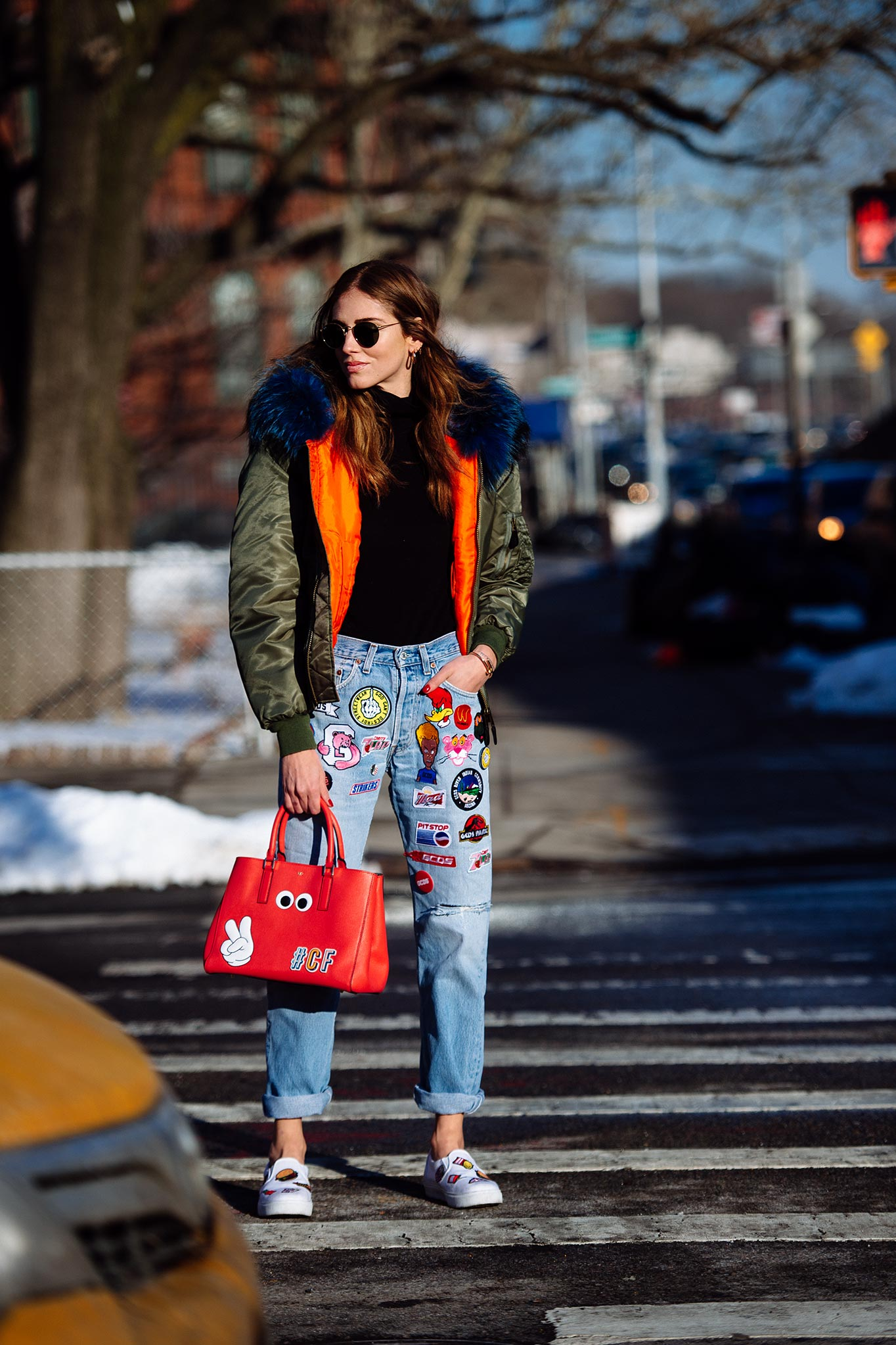 Chiara Ferragni at New York Fashion Week Fall/Winter 2015