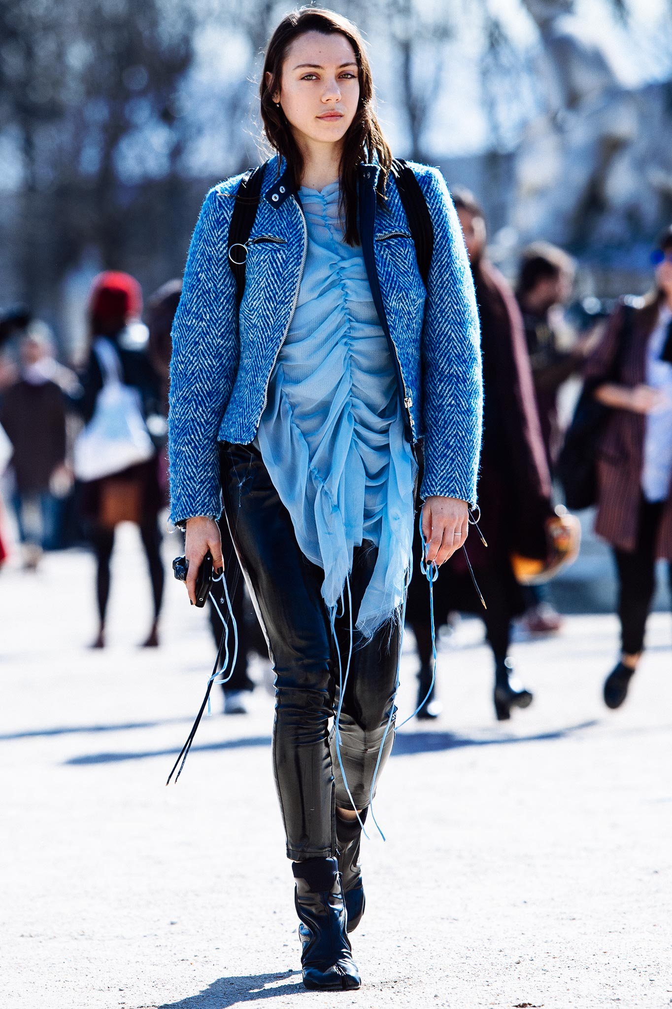 Georgia Pendlebury at Paris Fashion Week Fall/Winter 2015