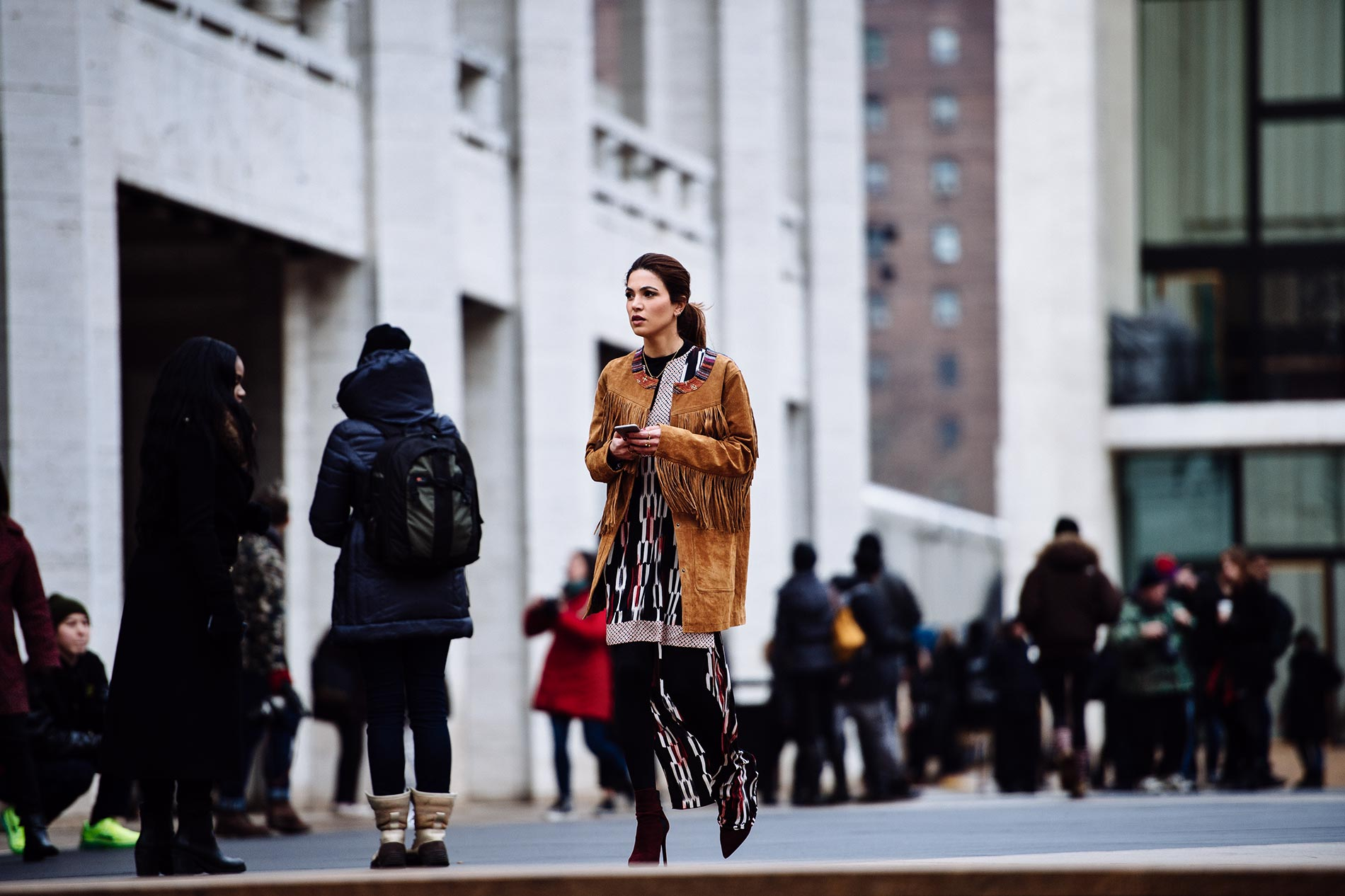 Negin Mirsalehi at New York Fashion Week Fall/Winter 2015