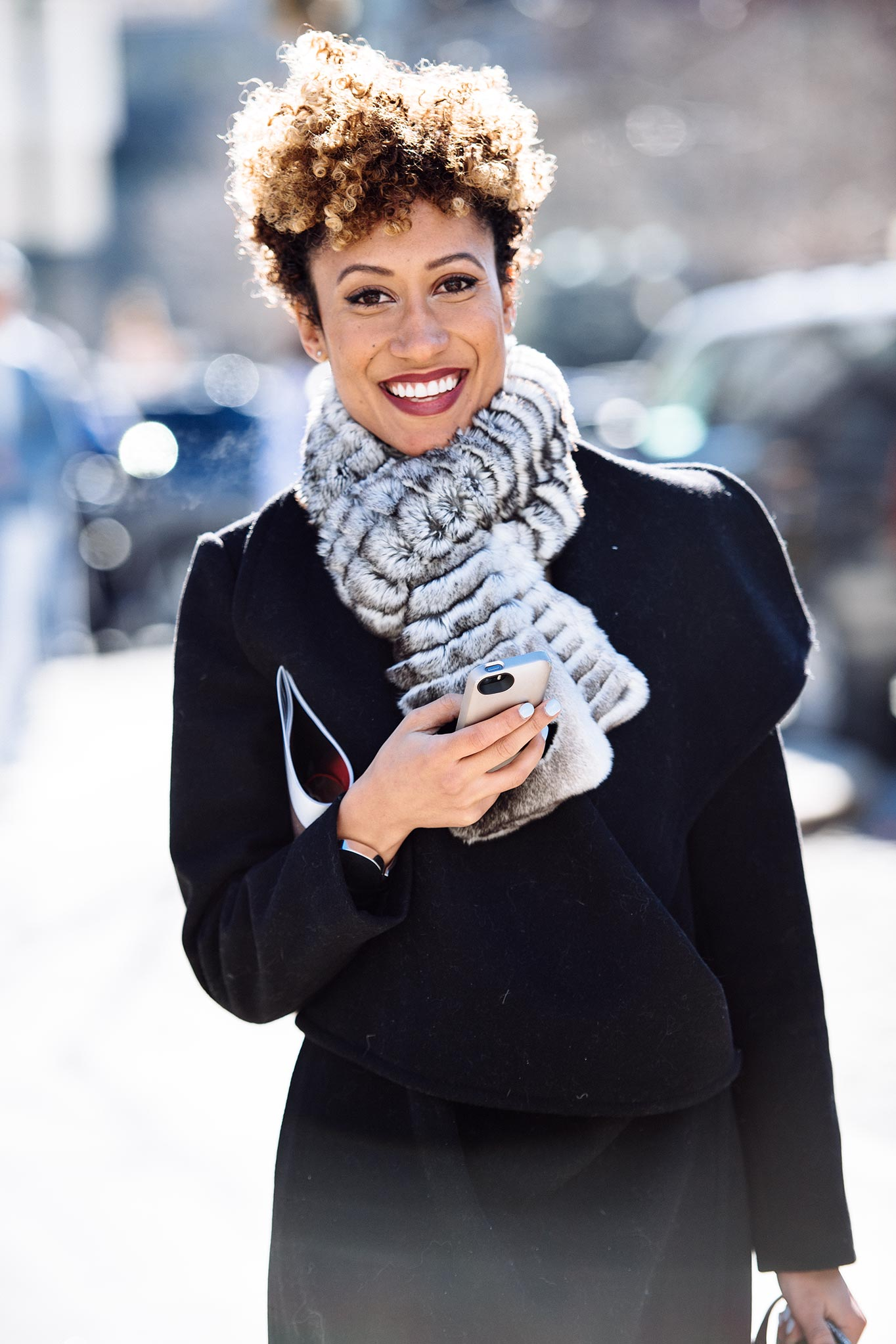 Elaine Welteroth at New York Fashion Week Fall/Winter 2015