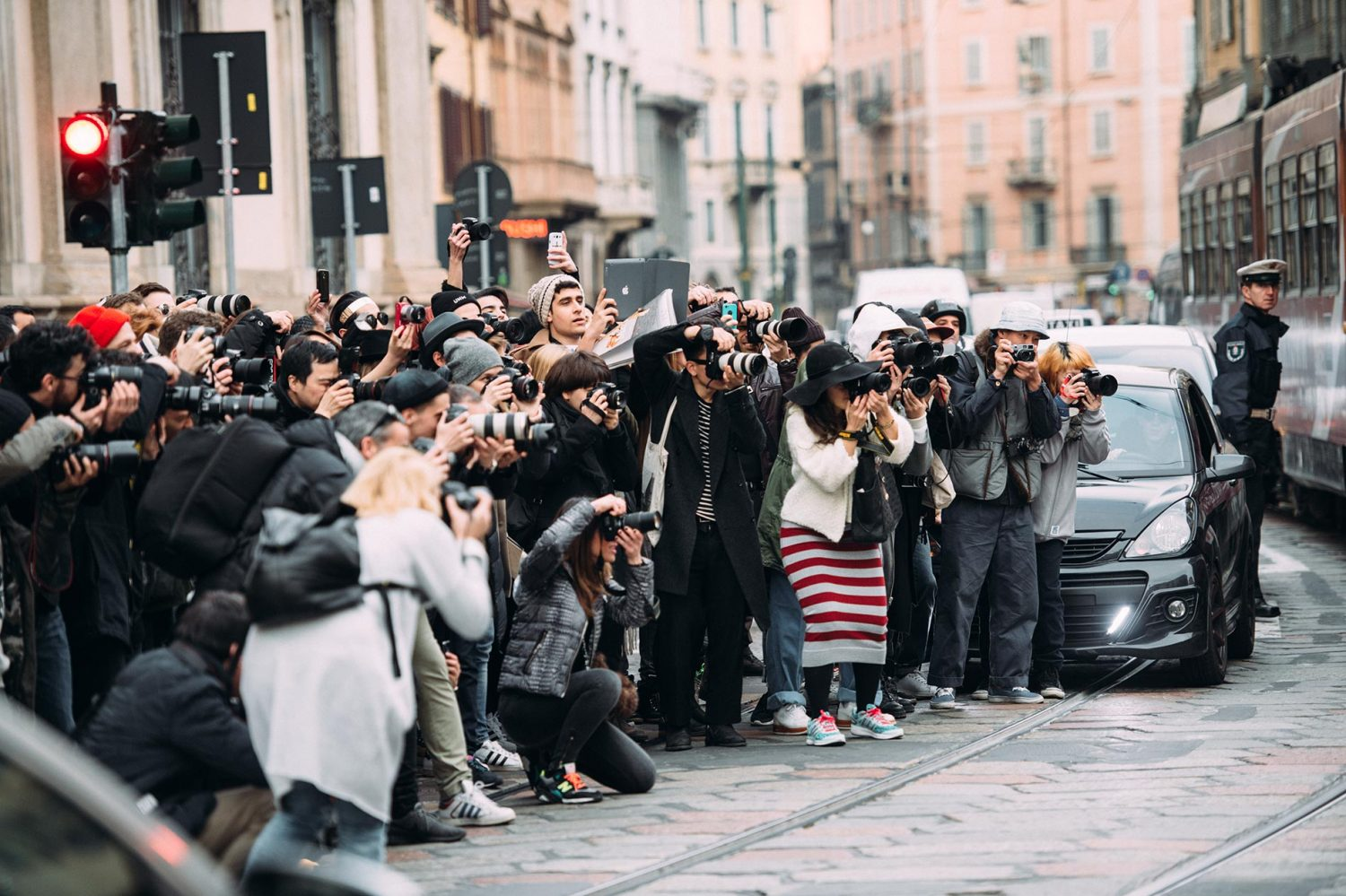Photographers at Milan Fashion Week Fall/Winter 2015