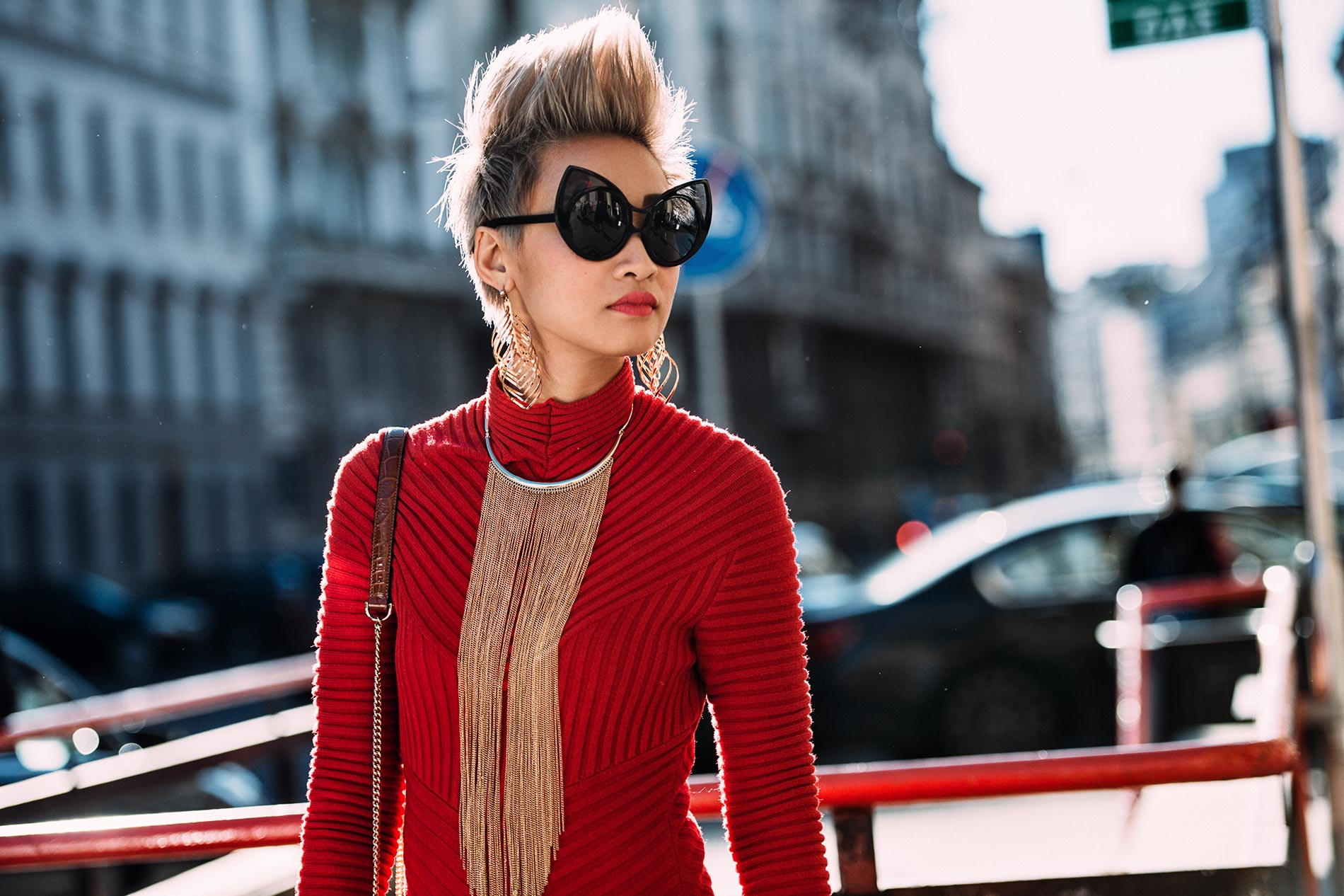 Esther Quek at Milan Men's Fashion Week Fall/Winter 2016