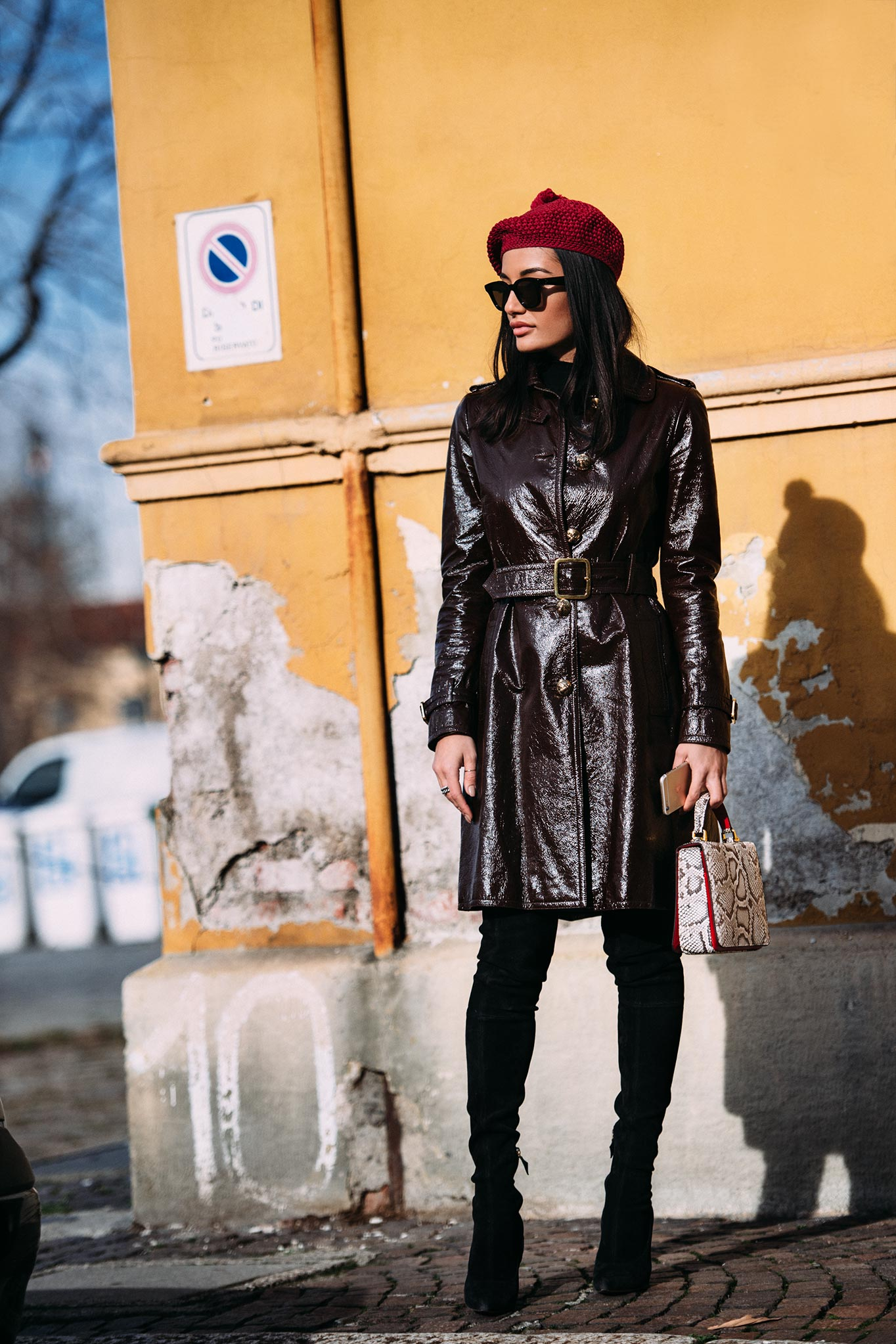 Amina Muaddi at Milan Men's Fashion Week Fall/Winter 2016