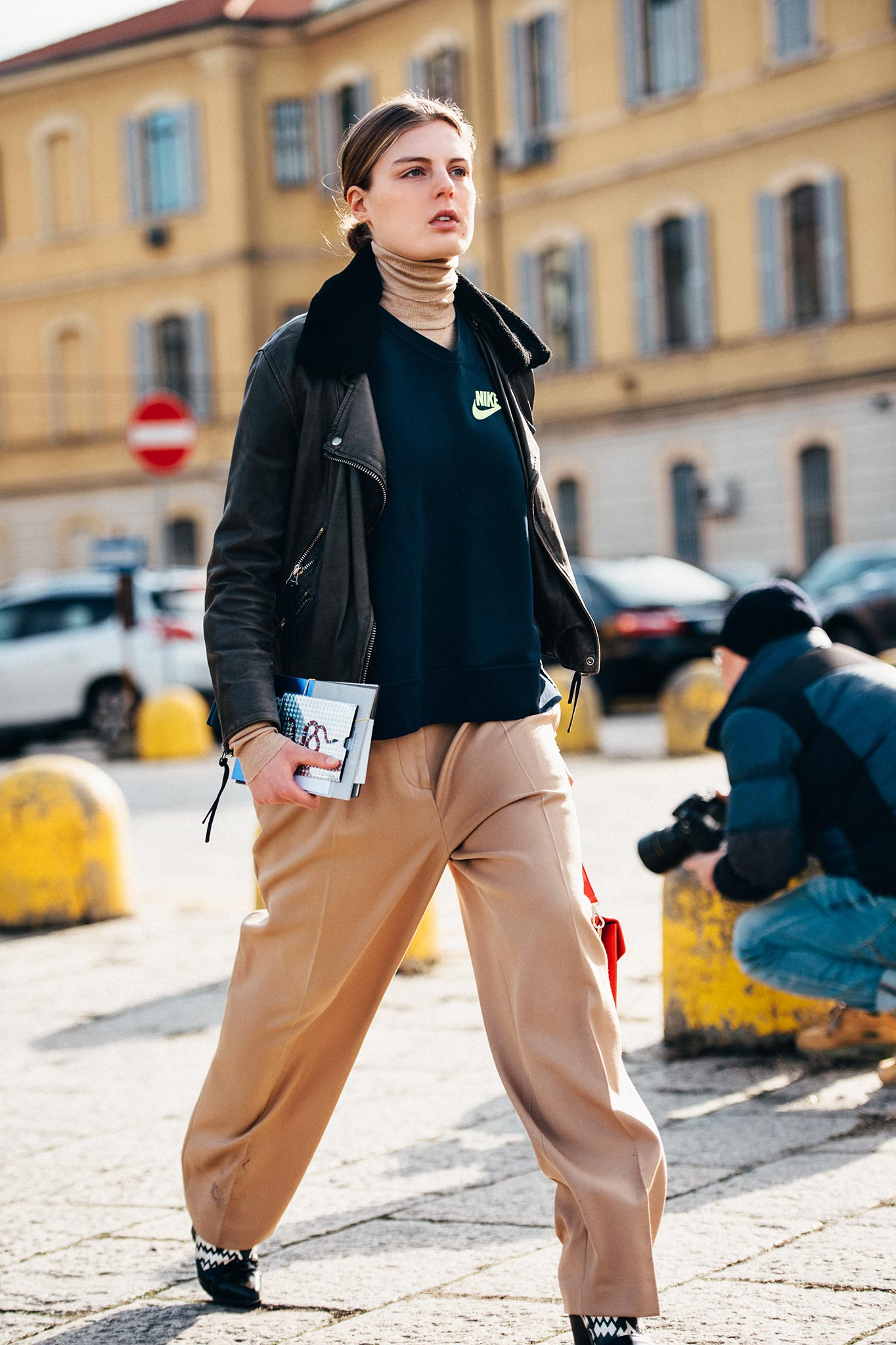 Claire Beermann at Milan Men's Fashion Week Fall/Winter 2016