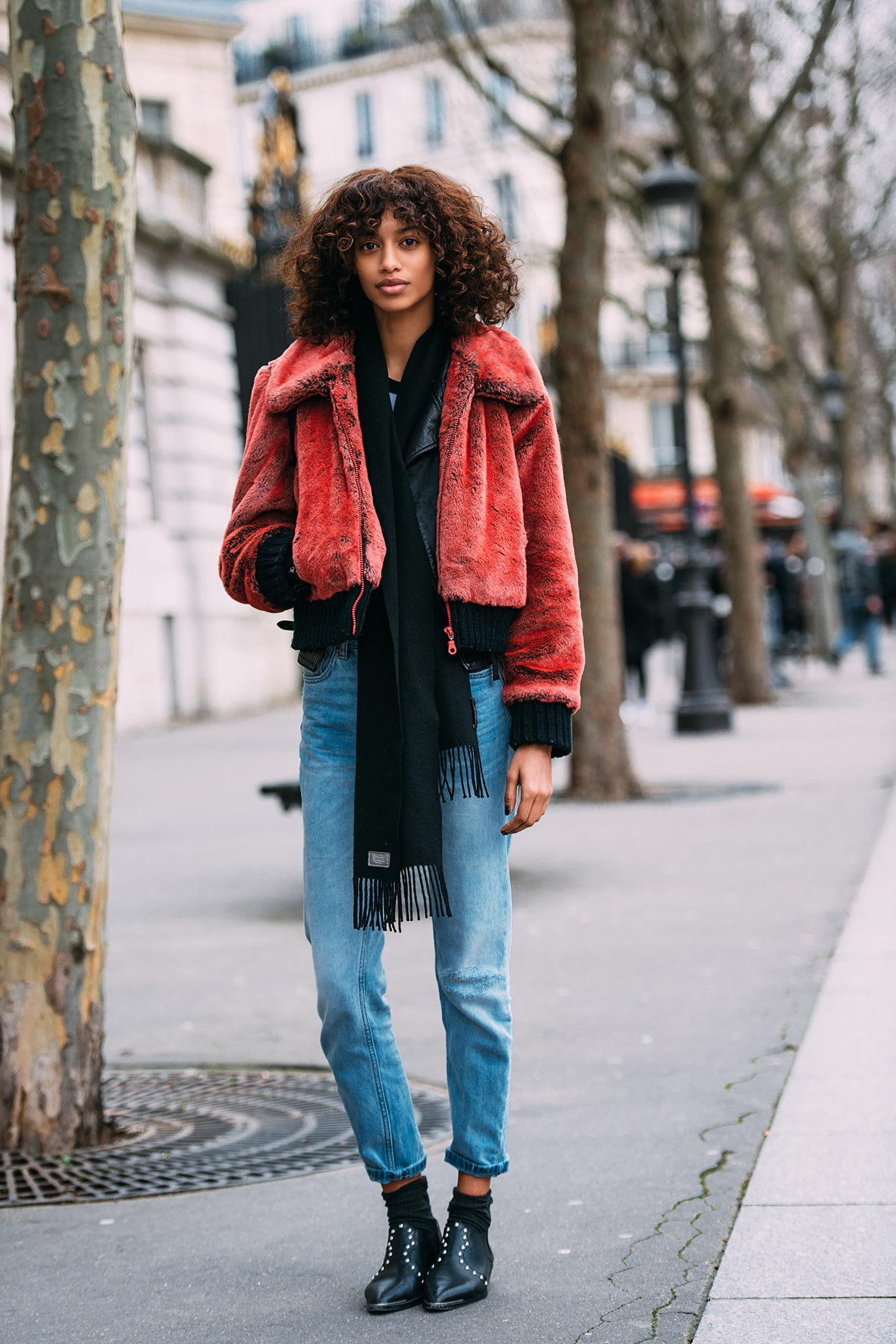 Jourdana Phillips at Paris Fashion Week Fall/Winter 2016