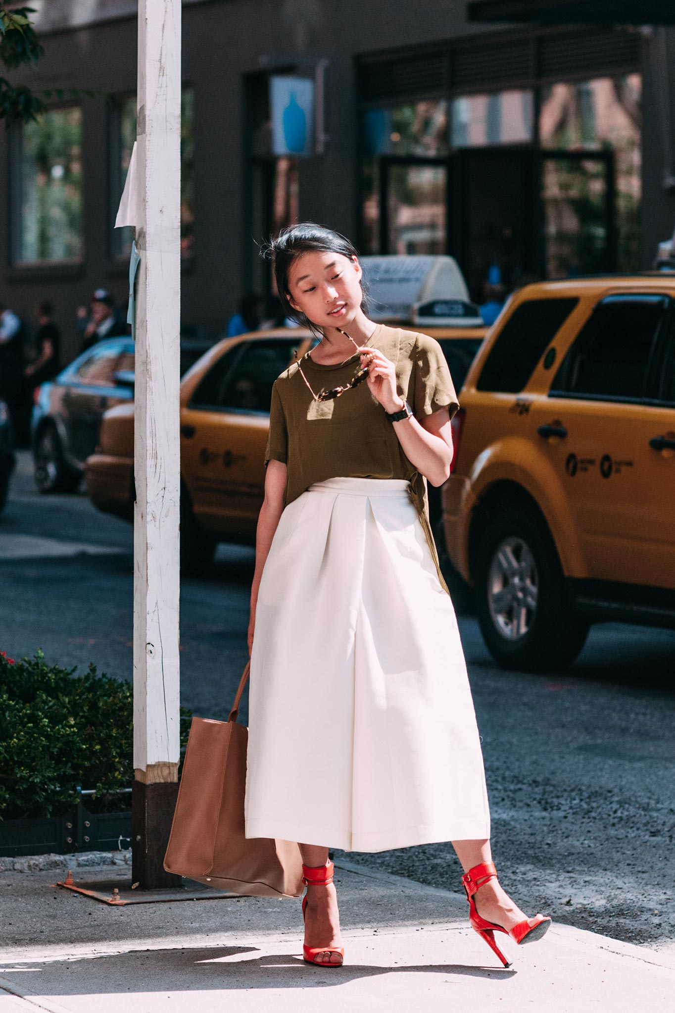 Margaret Zhang at New York Fashion Week Spring/Summer 2015