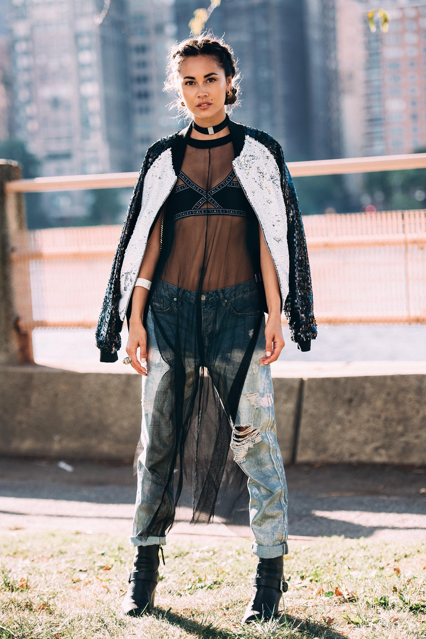 Ana Tanaka at New York Fashion Week Spring/Summer 2017